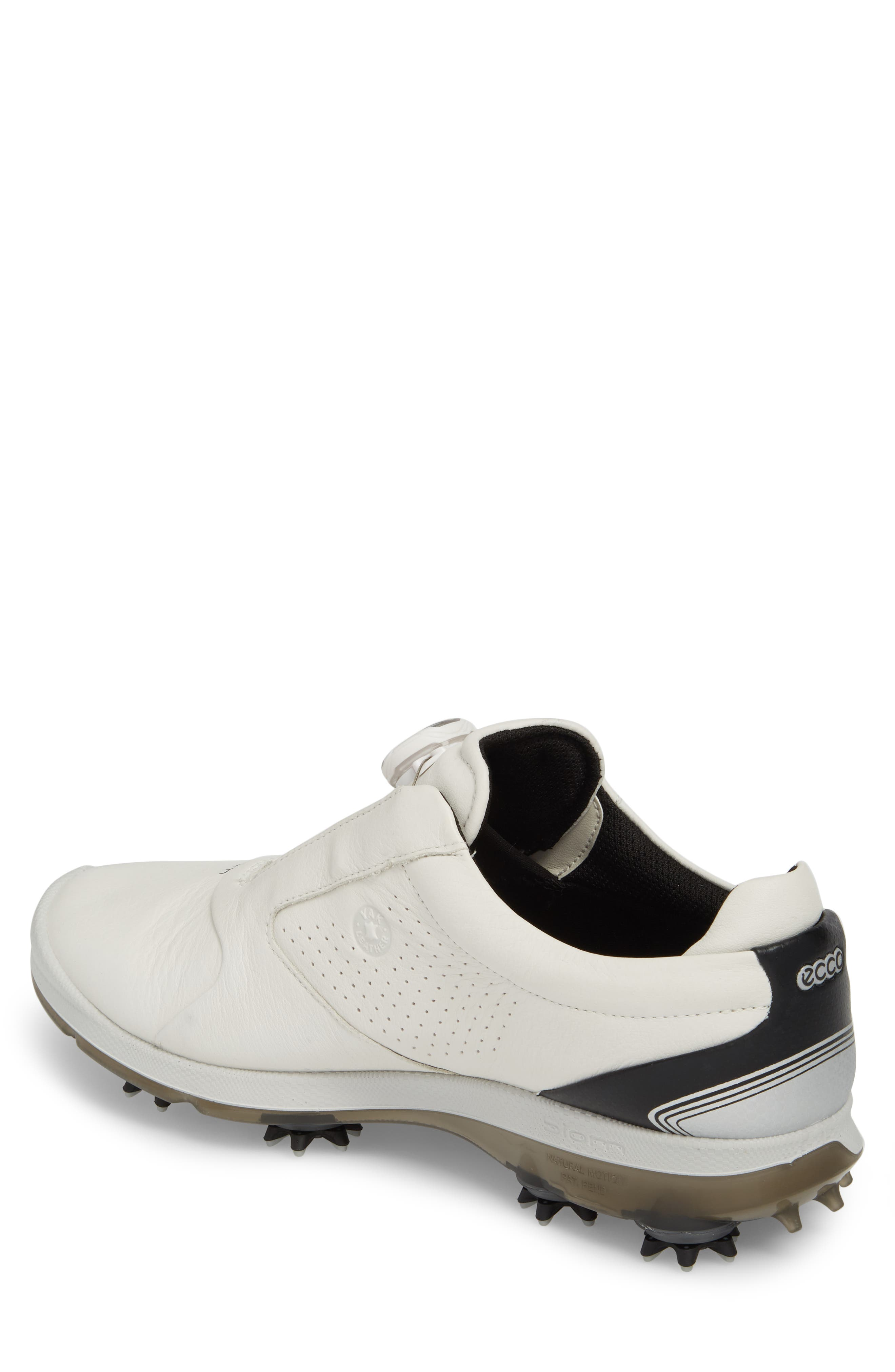BIOM 2 BOA Gore-Tex<sup>®</sup> Golf Shoe,                             Alternate thumbnail 2, color,                             White/ Black Leather
