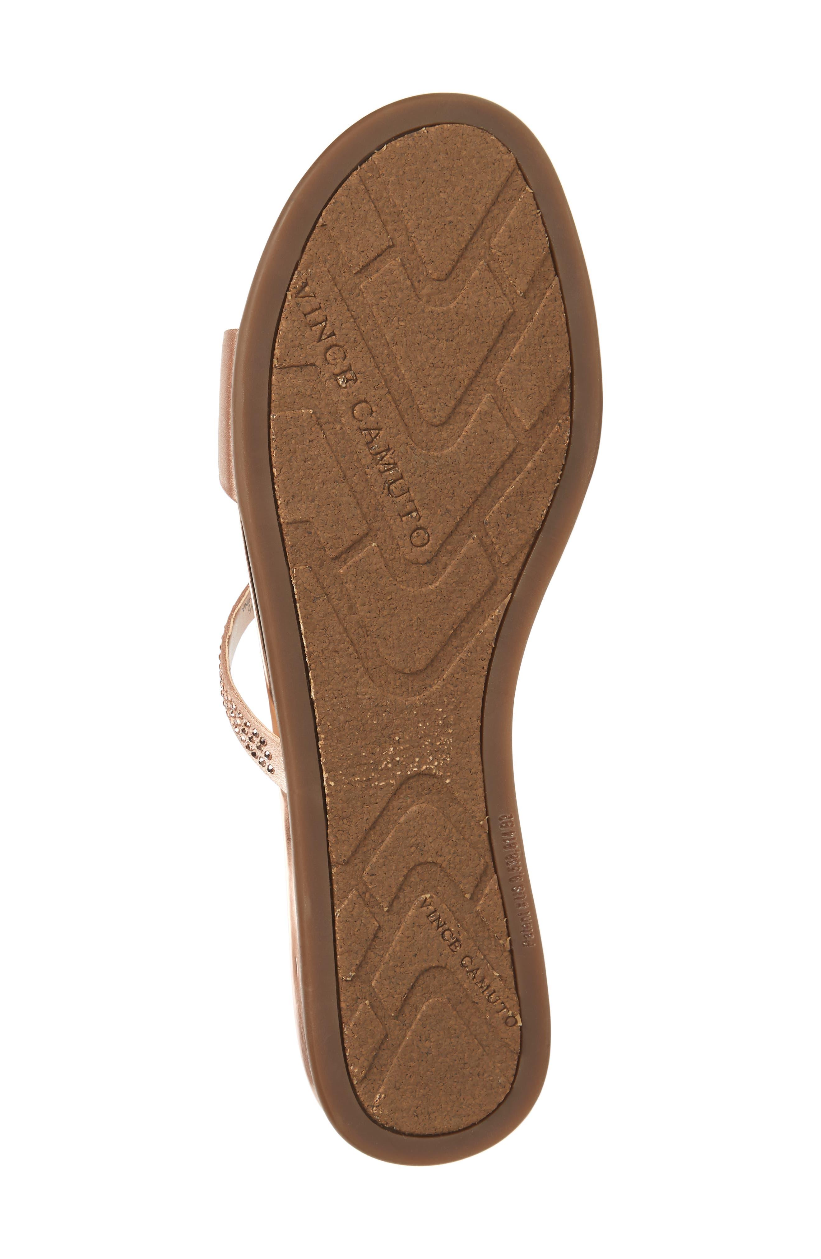 Elouisa Crystal Slide Sandal,                             Alternate thumbnail 6, color,                             Pink Bisque Satin