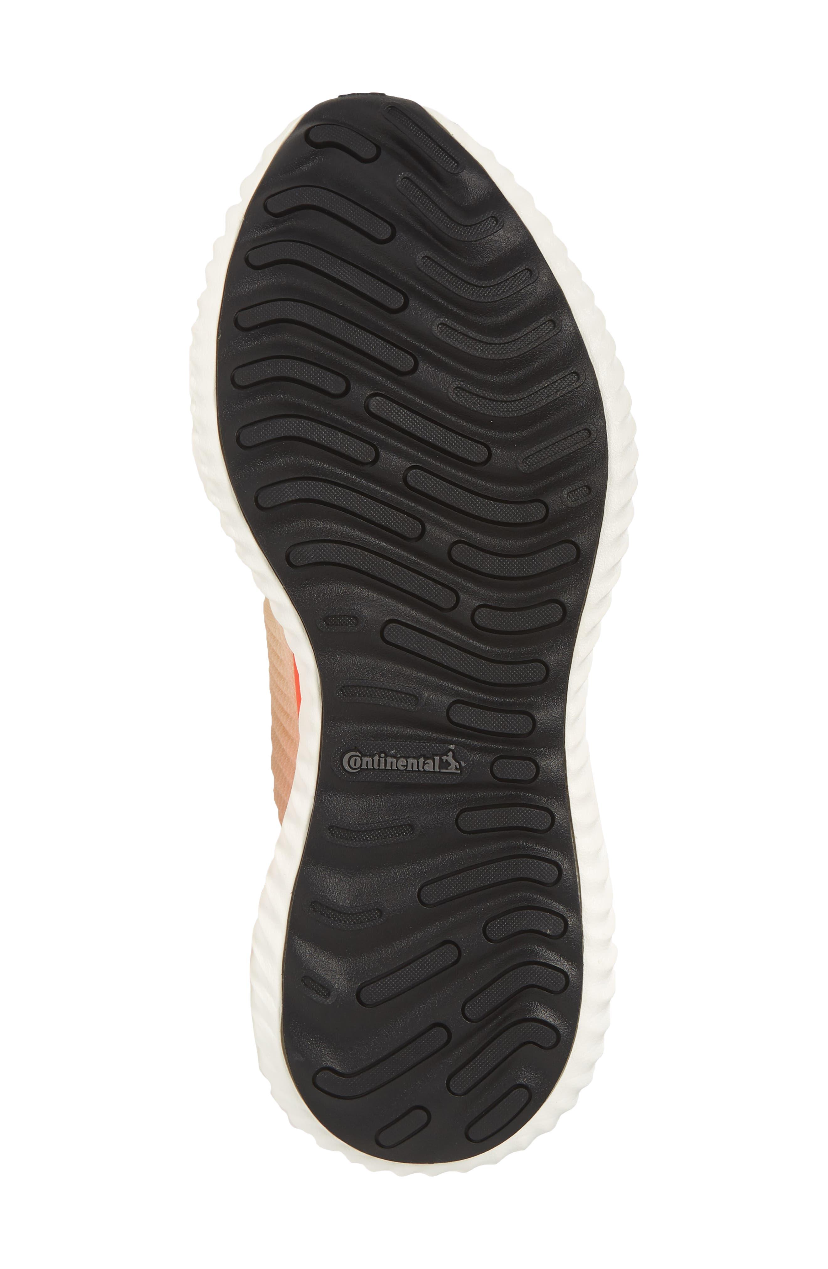 AlphaBounce Beyond Knit Running Shoe,                             Alternate thumbnail 6, color,                             Linen/ White/ Asphalt