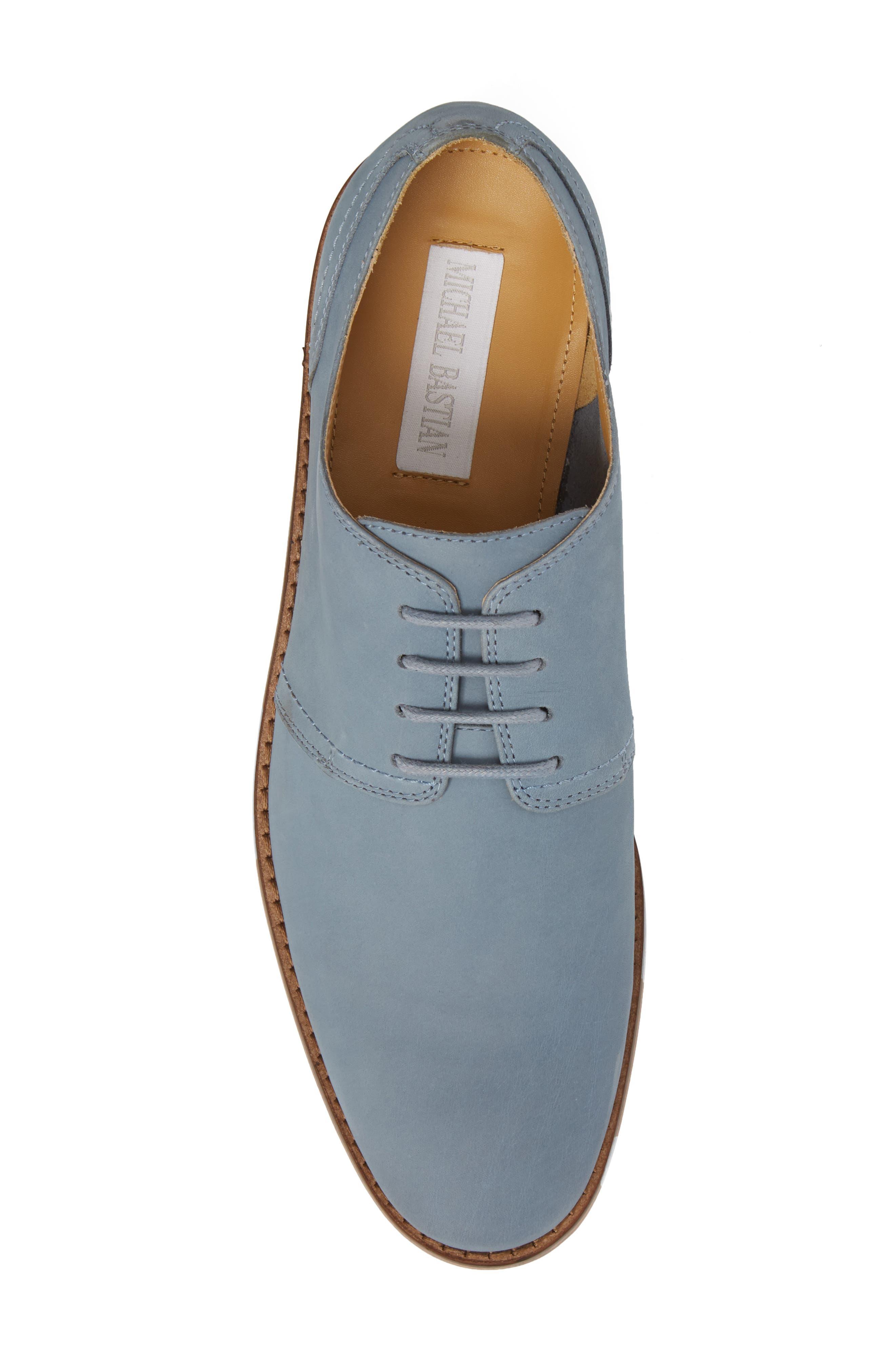 Caan Plain Toe Derby,                             Alternate thumbnail 5, color,                             Flint Stone Leather