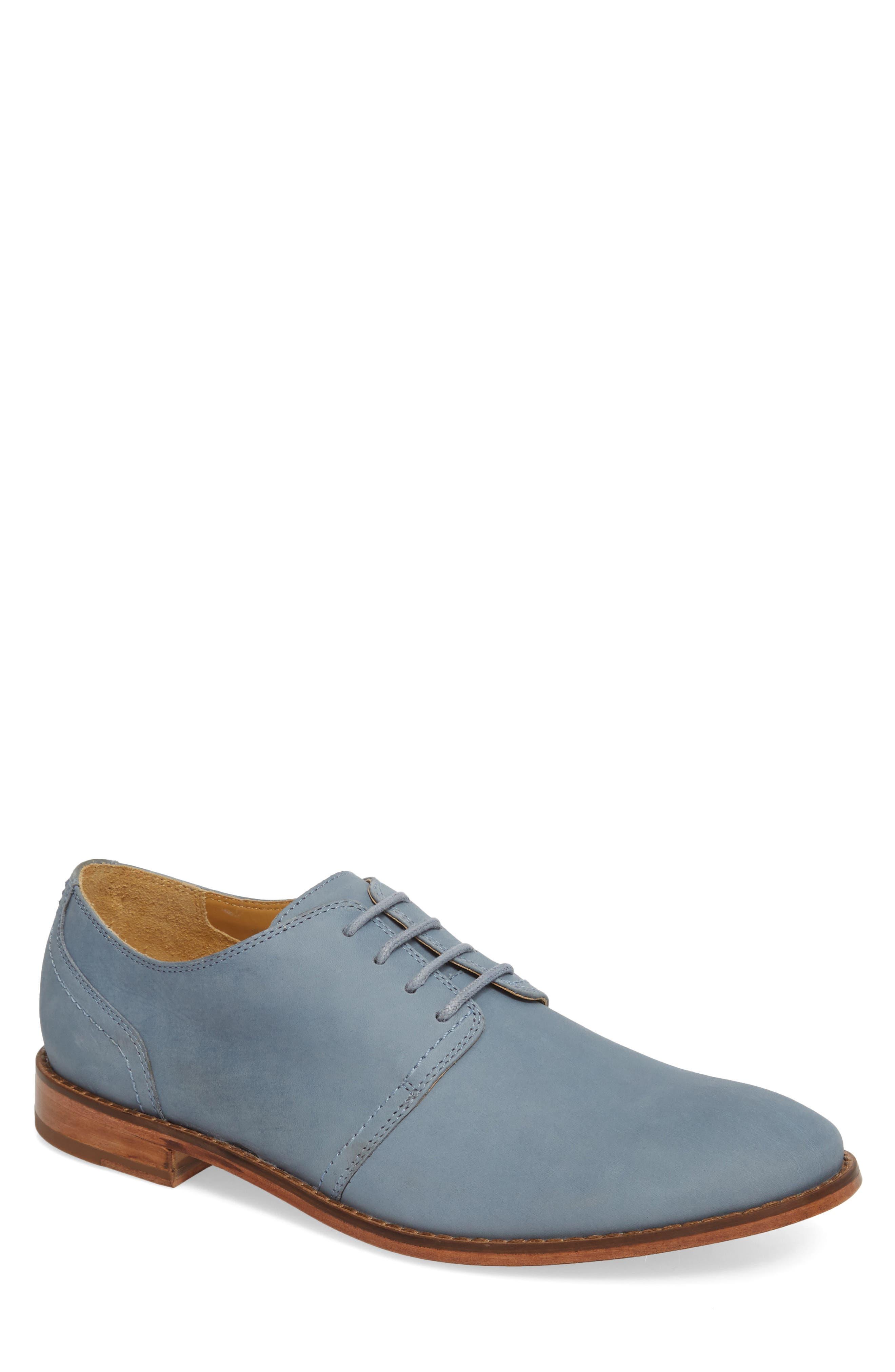 Caan Plain Toe Derby,                             Main thumbnail 1, color,                             Flint Stone Leather