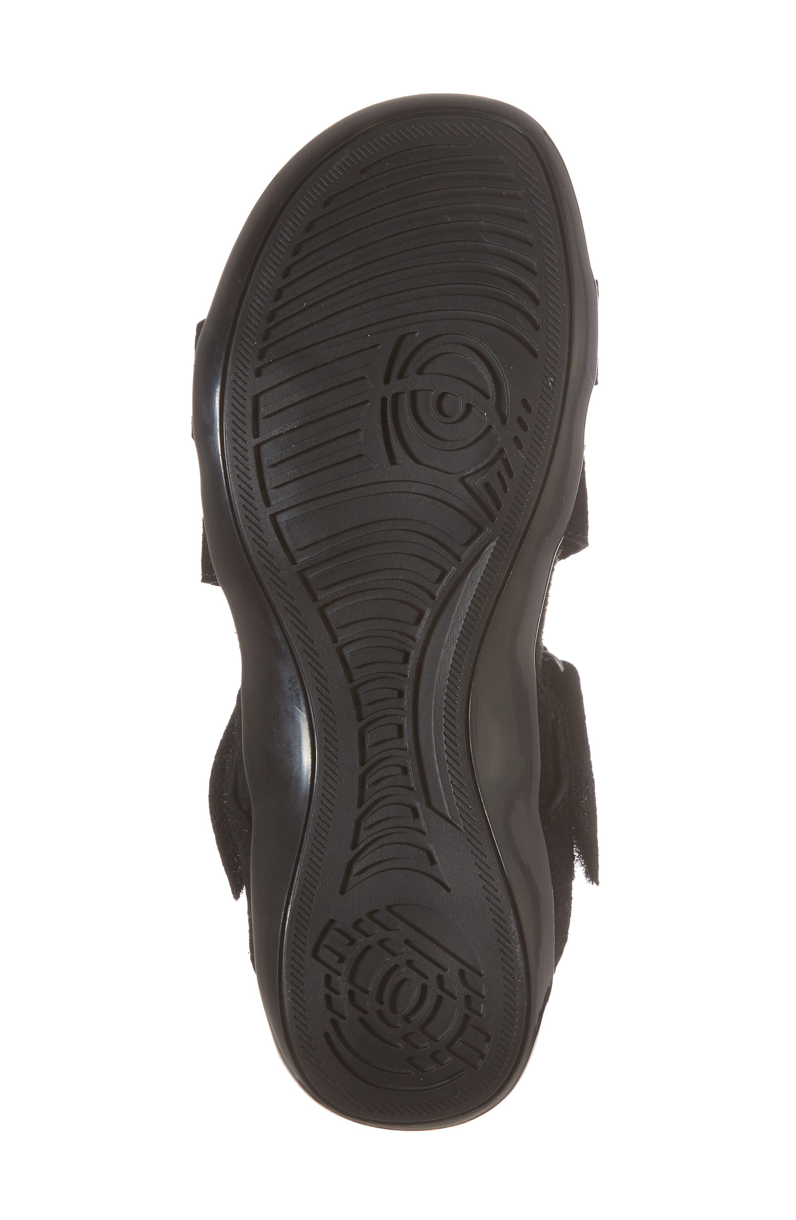Vicki Slingback Sandal,                             Alternate thumbnail 6, color,                             Black Printed Leather
