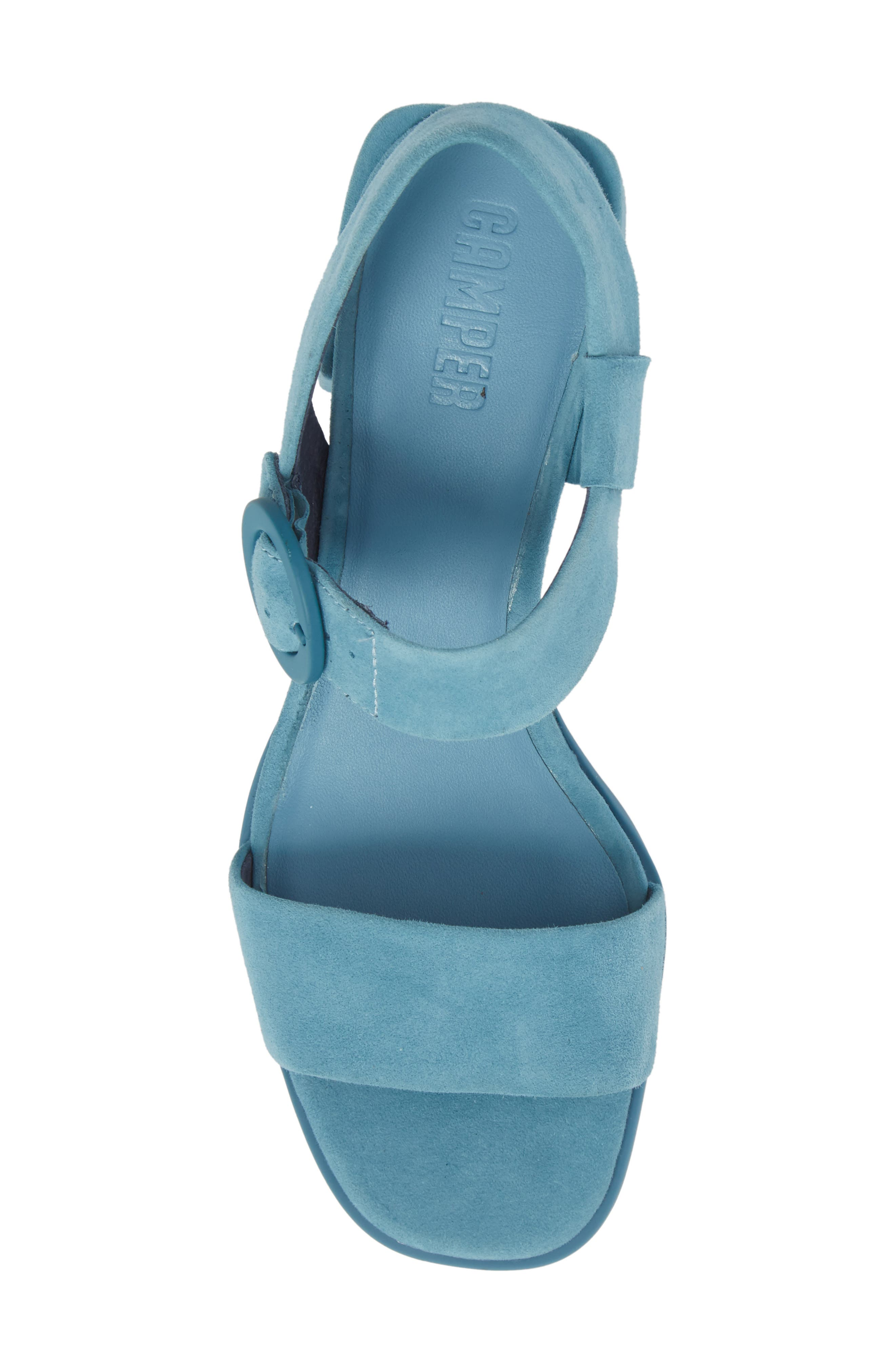 Kobo Sandal,                             Alternate thumbnail 5, color,                             Medium Blue Suede