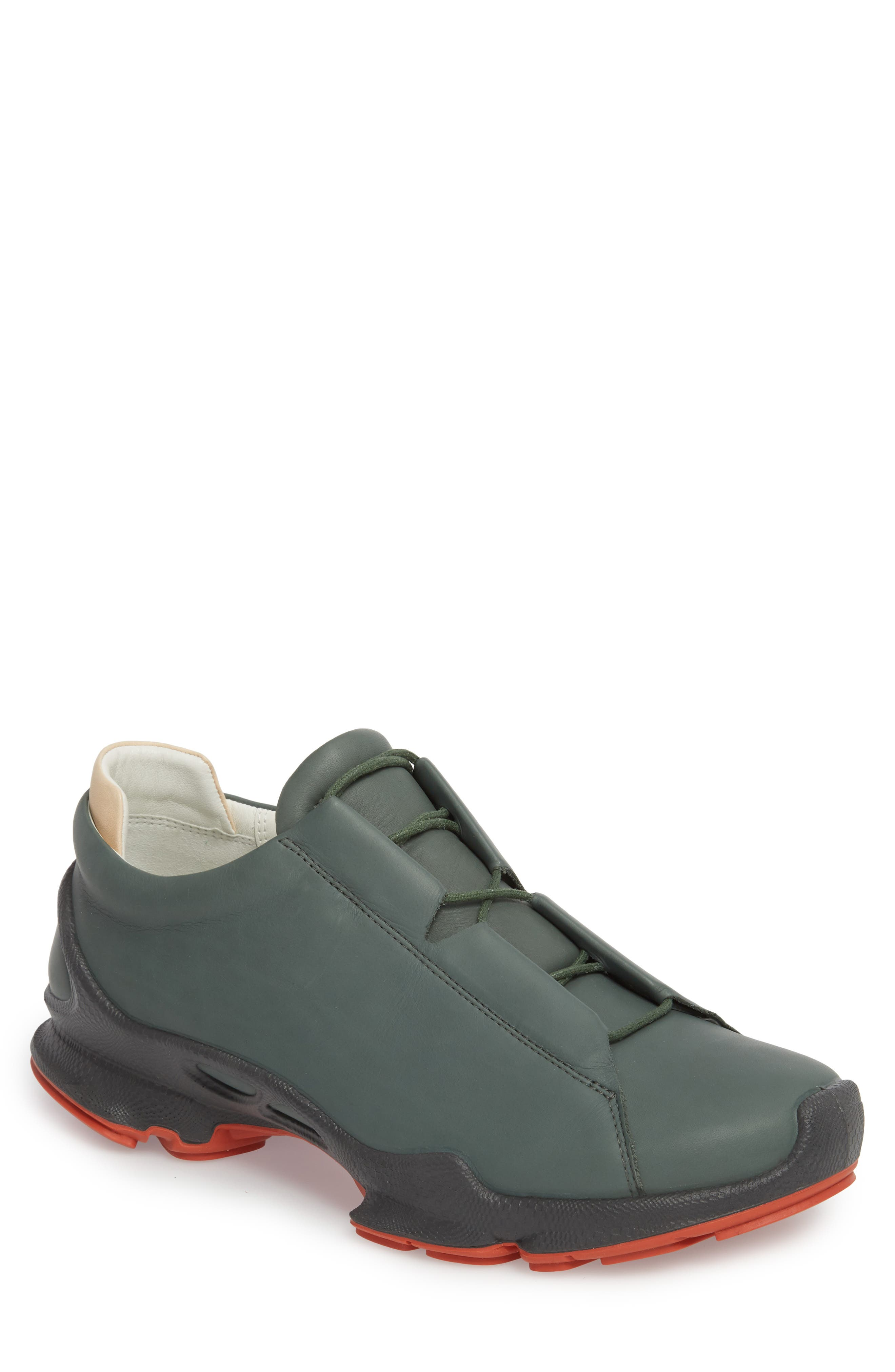 BIOM C Low Top Sneaker,                             Main thumbnail 1, color,                             Military Sage Leather
