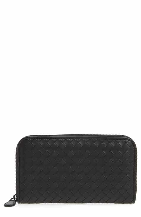Bottega Veneta Leather Zip Around Wallet