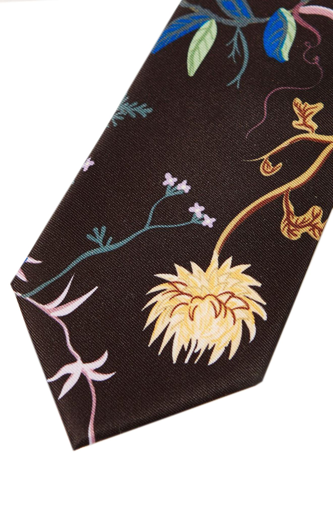 Alternate Image 2  - Topman Floral Tie