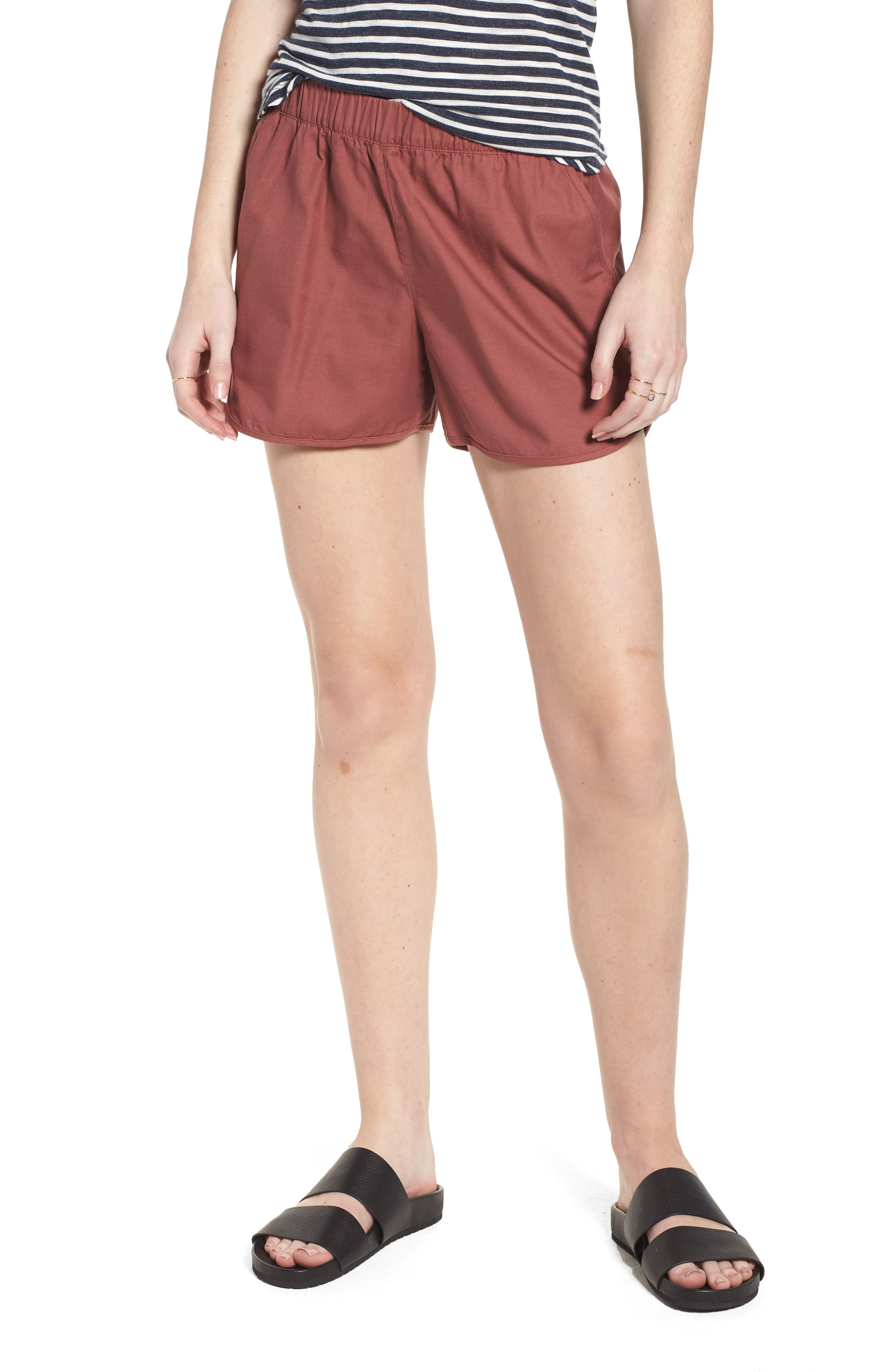 Pull-On Shorts,                         Main,                         color, Autumn Berry