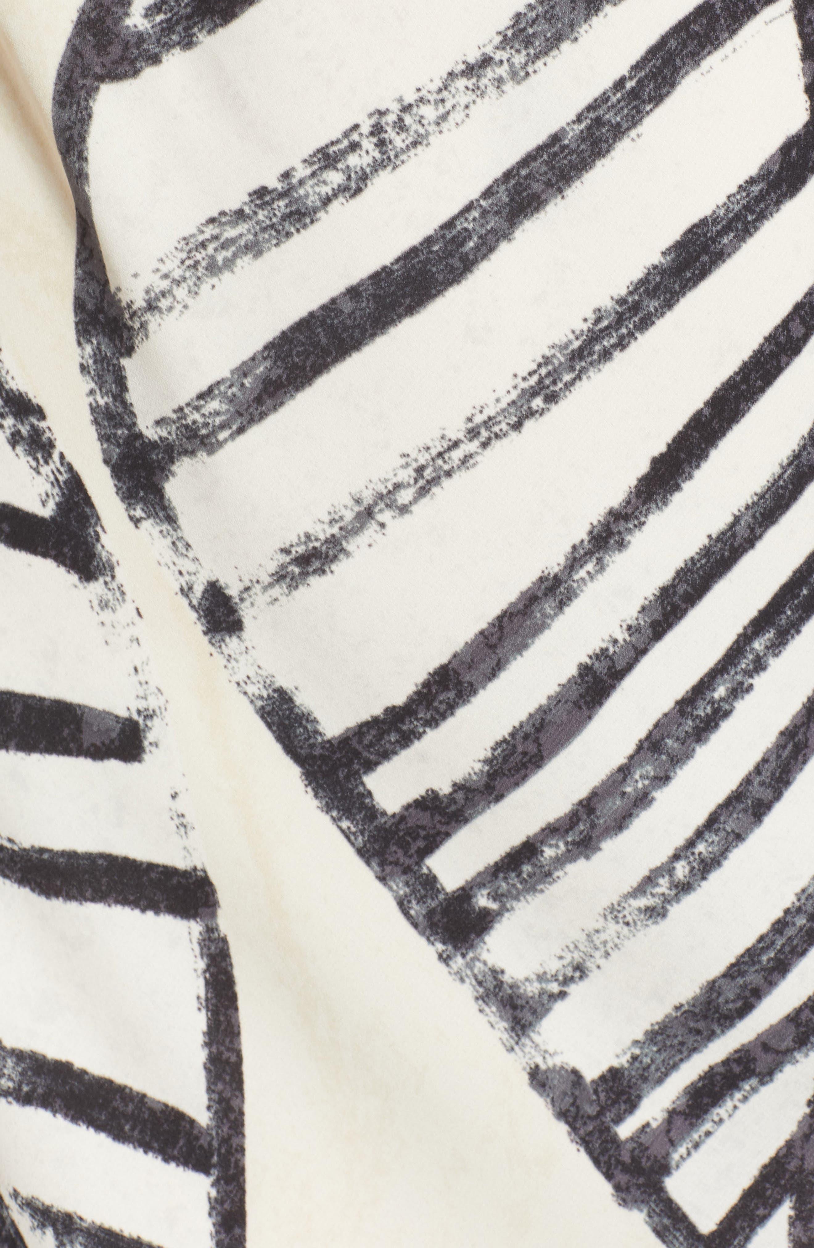 Etched Leaves Tie Dress,                             Alternate thumbnail 6, color,                             Multi