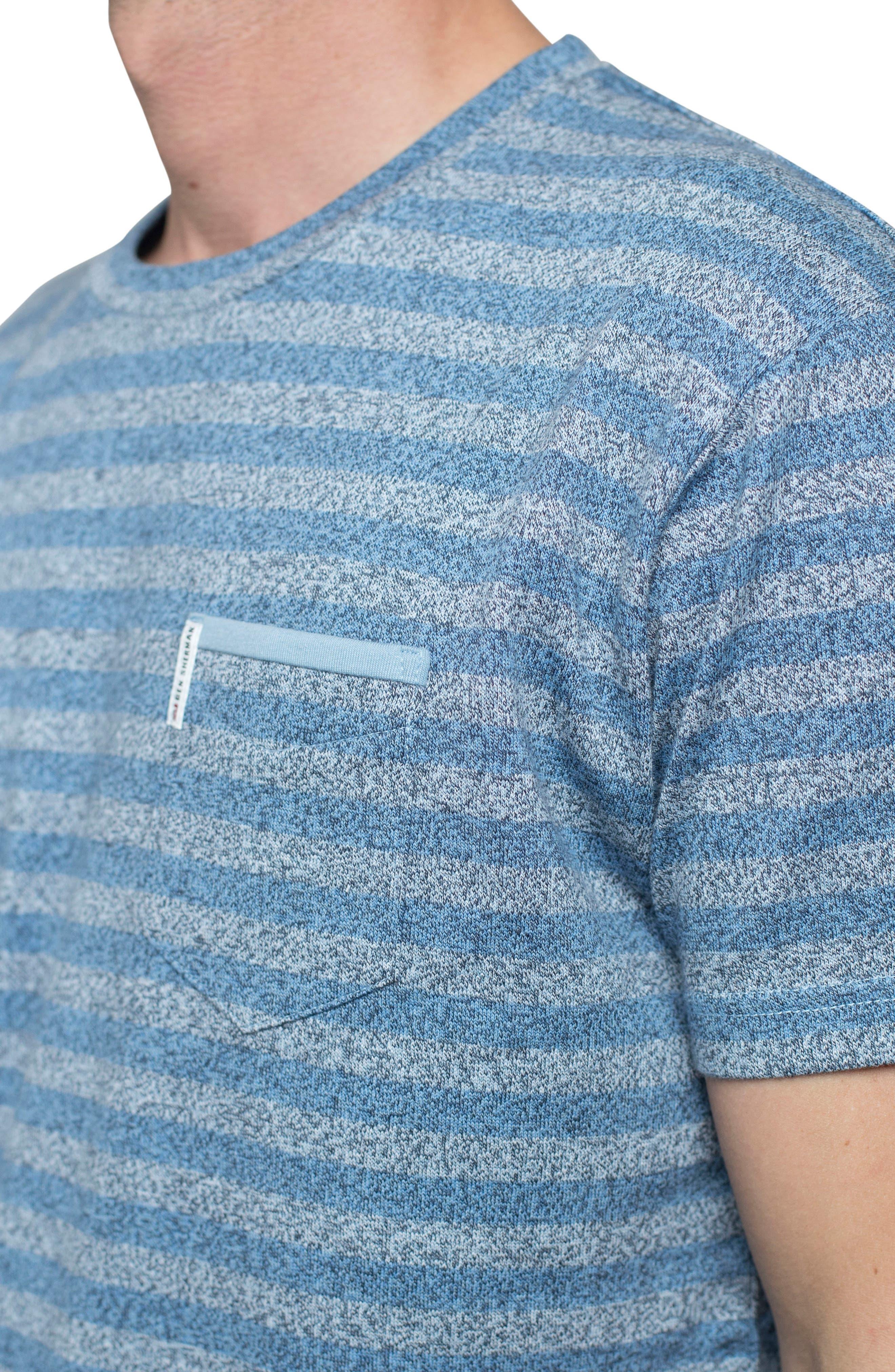 Stripe Crewneck T-Shirt,                             Alternate thumbnail 4, color,                             Off White