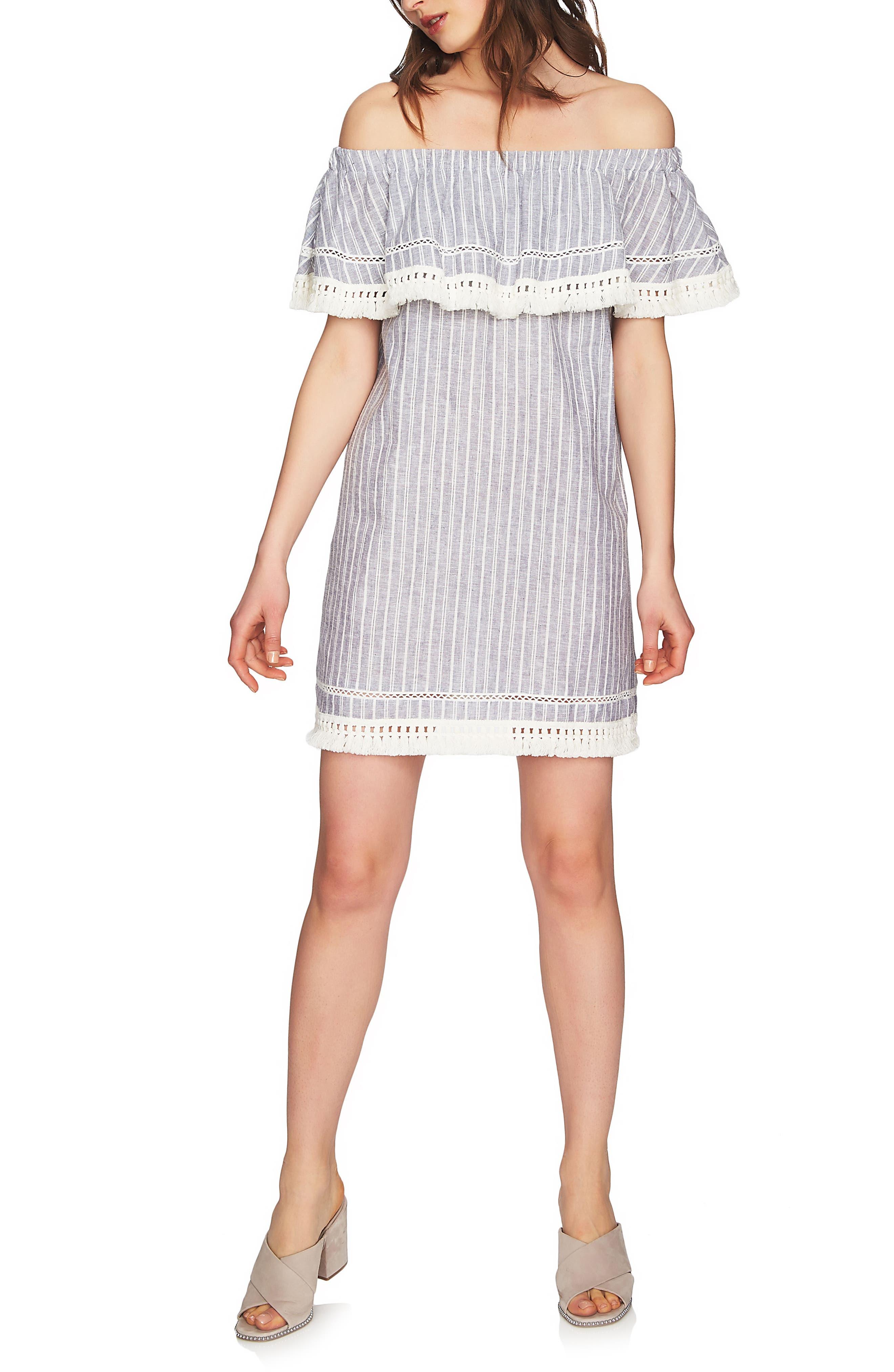 Main Image - 1.STATE Off the Shoulder Shift Dress