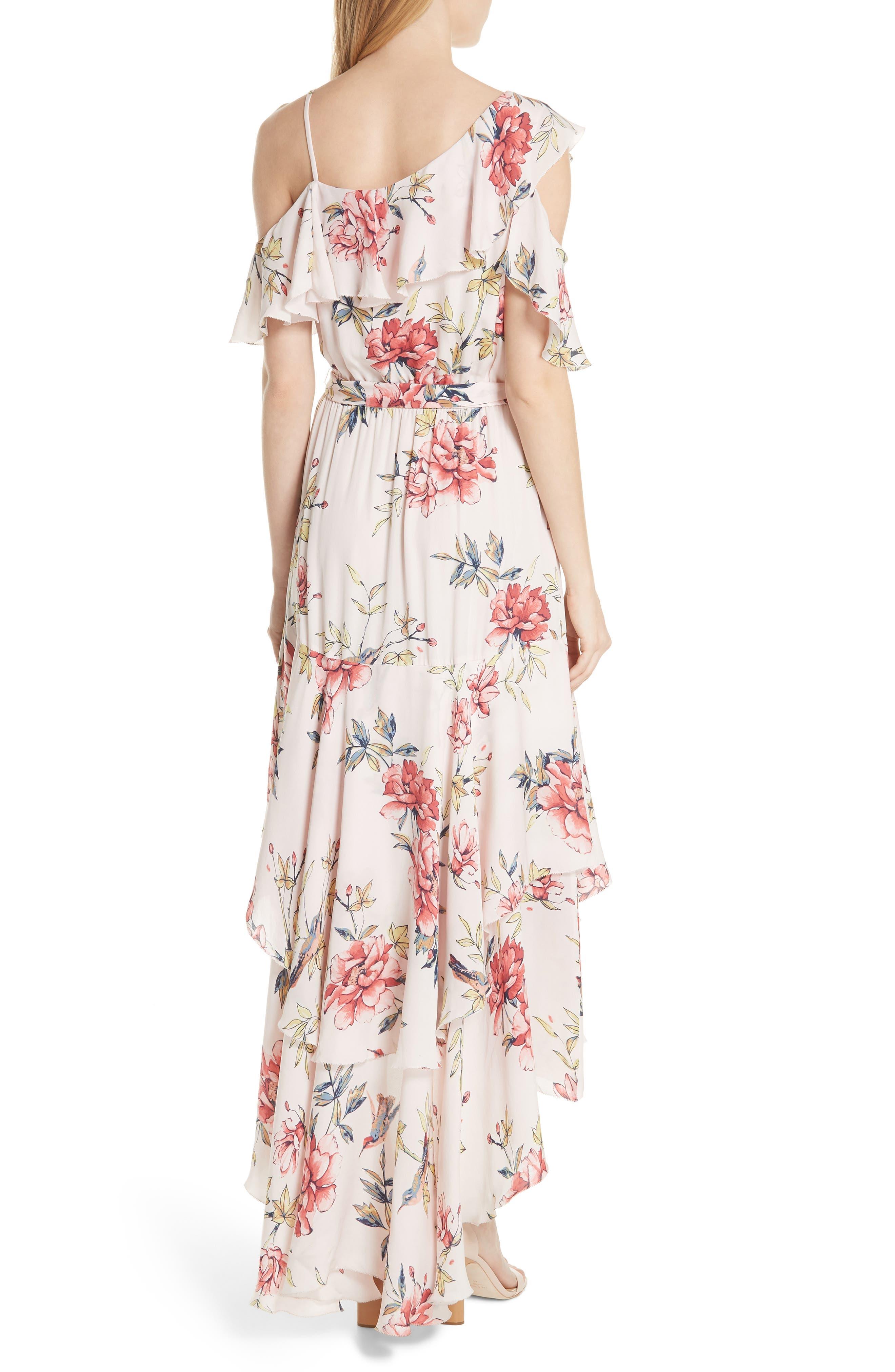 Cristeta Floral Silk Maxi Dress,                             Alternate thumbnail 2, color,                             Rosewater