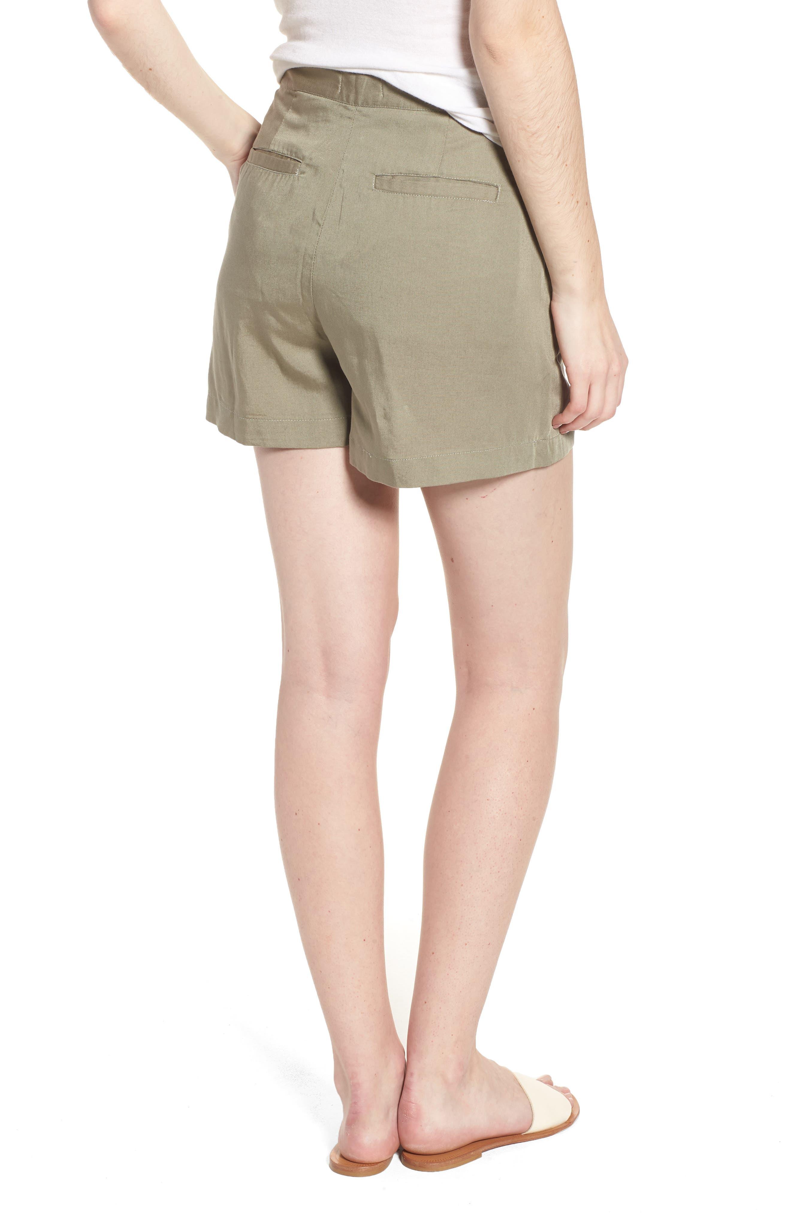 High Waist Shorts,                             Alternate thumbnail 2, color,                             Sea Grass