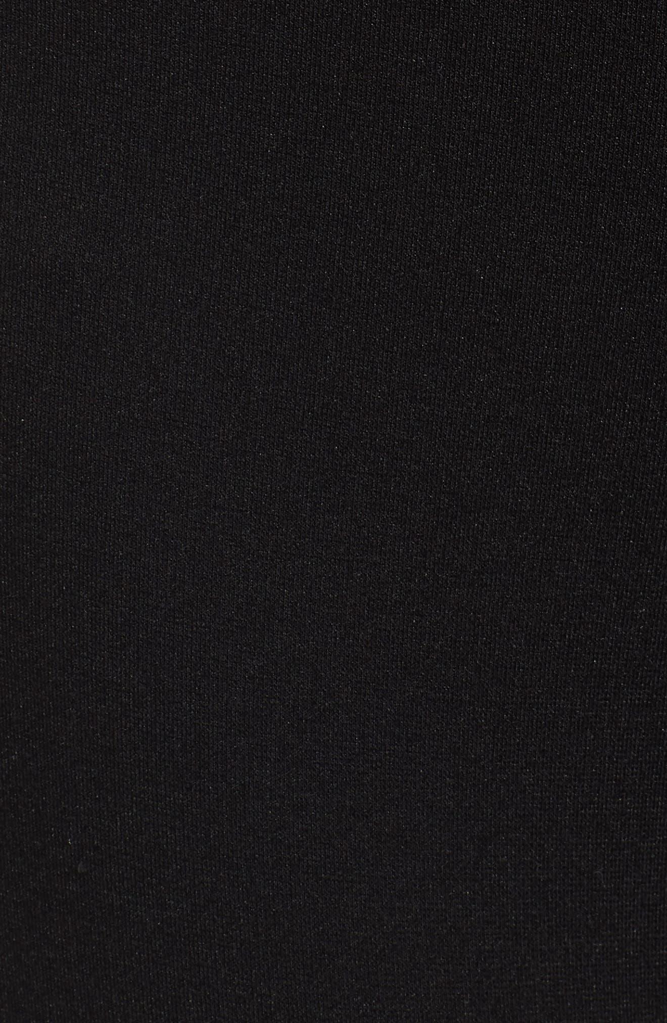 Mini Zip Crop Leggings,                             Alternate thumbnail 5, color,                             Black