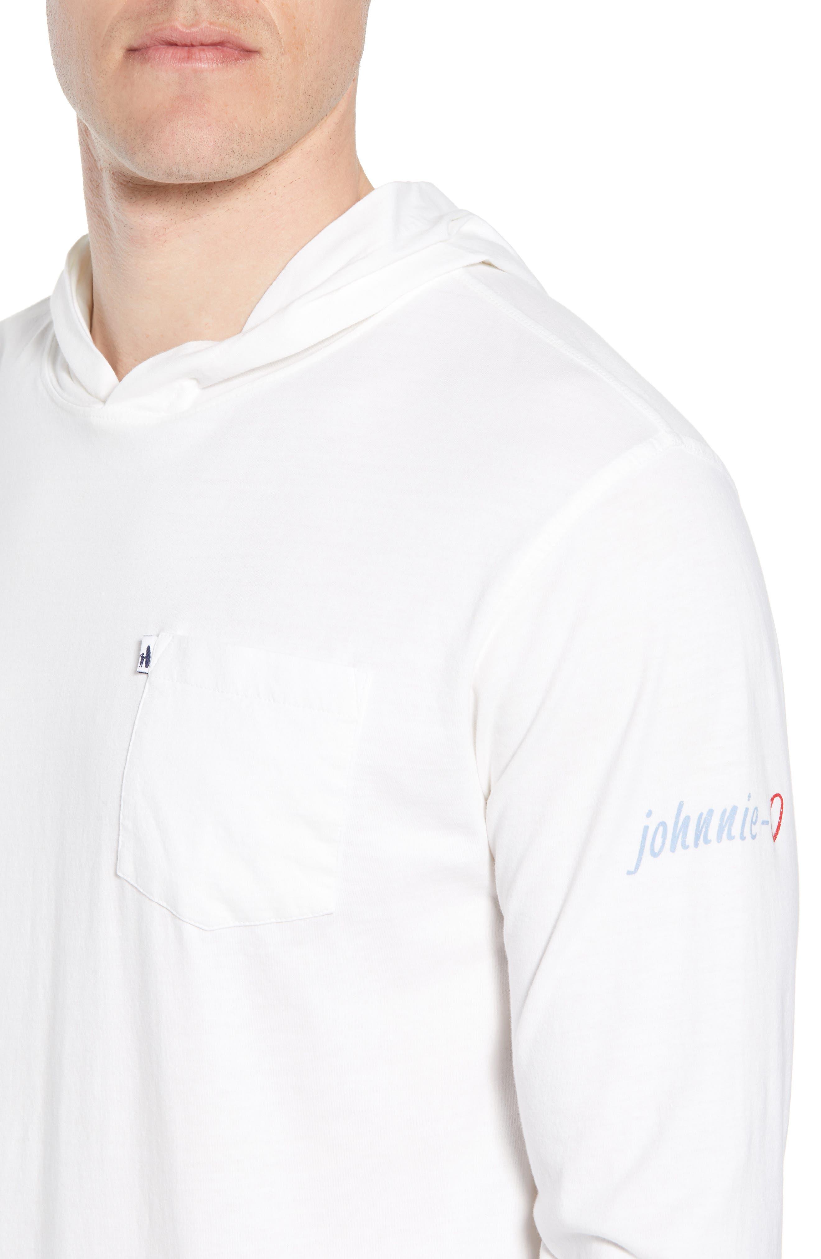 Eller Hooded T-Shirt,                             Alternate thumbnail 4, color,                             White