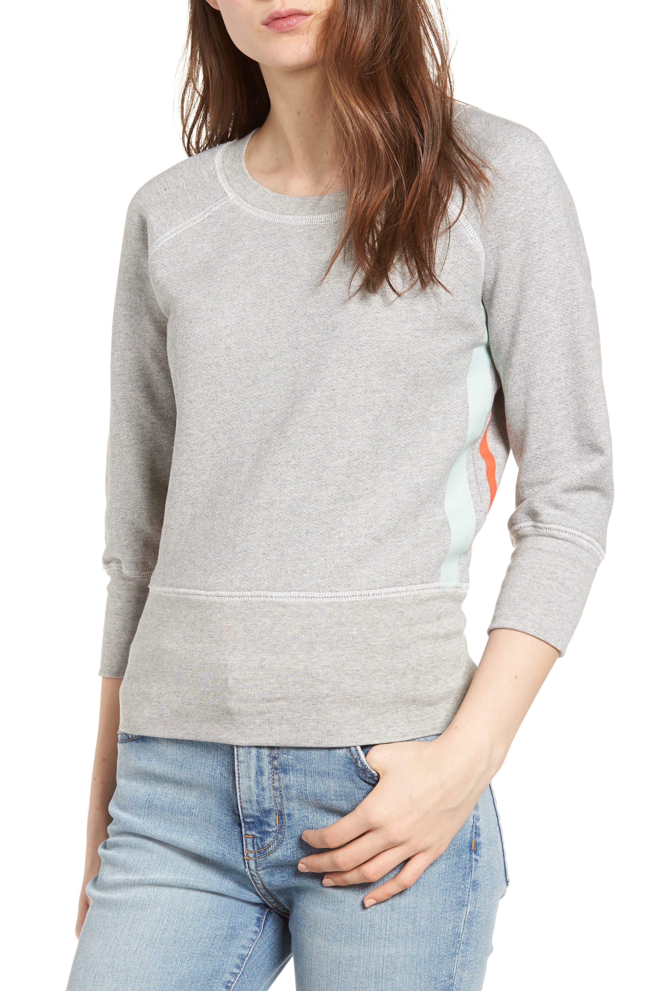 The Dallas Sweatshirt,                         Main,                         color, Heather Grey Fleece