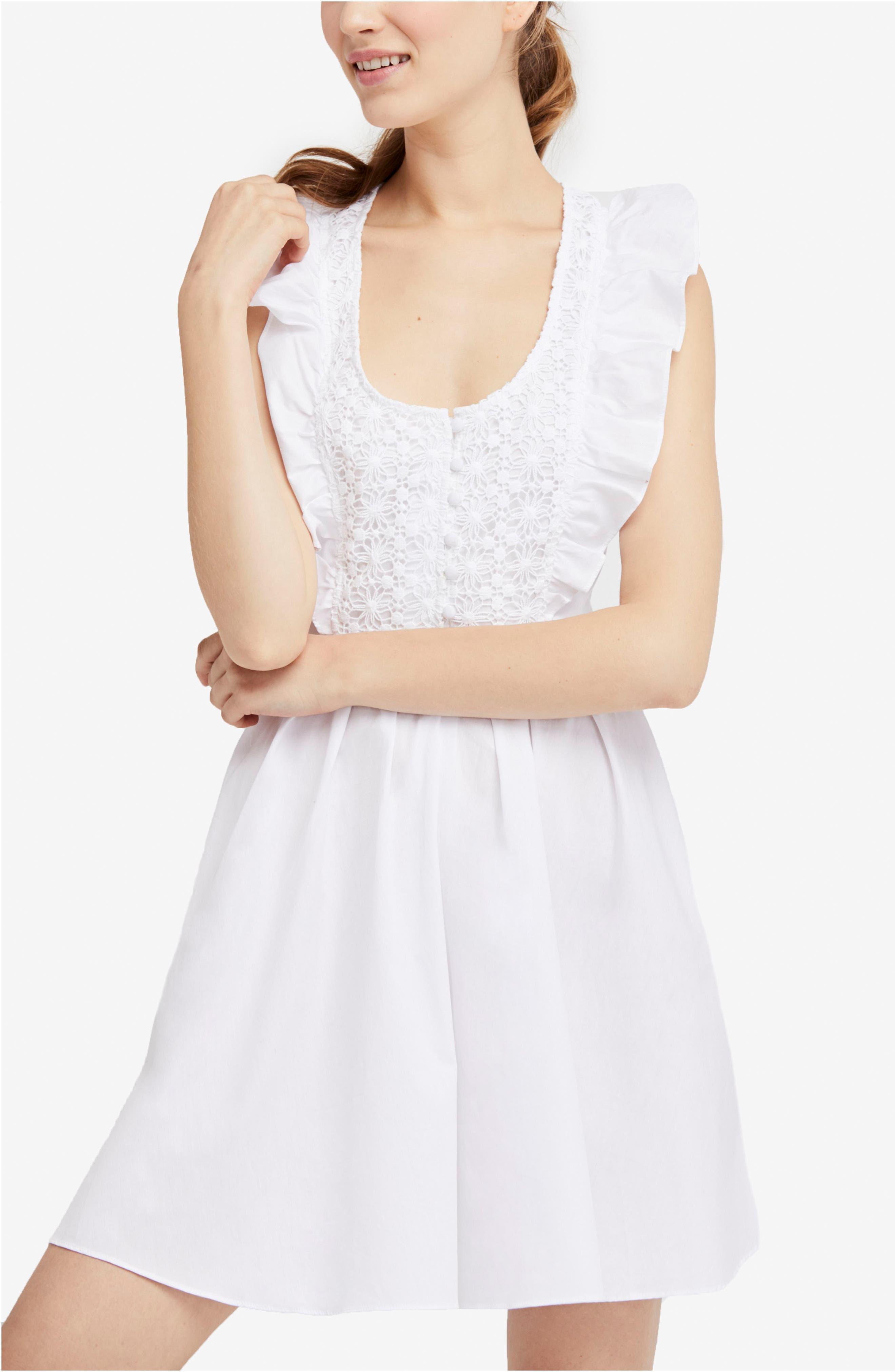 Half Moon Minidress,                             Main thumbnail 1, color,                             White