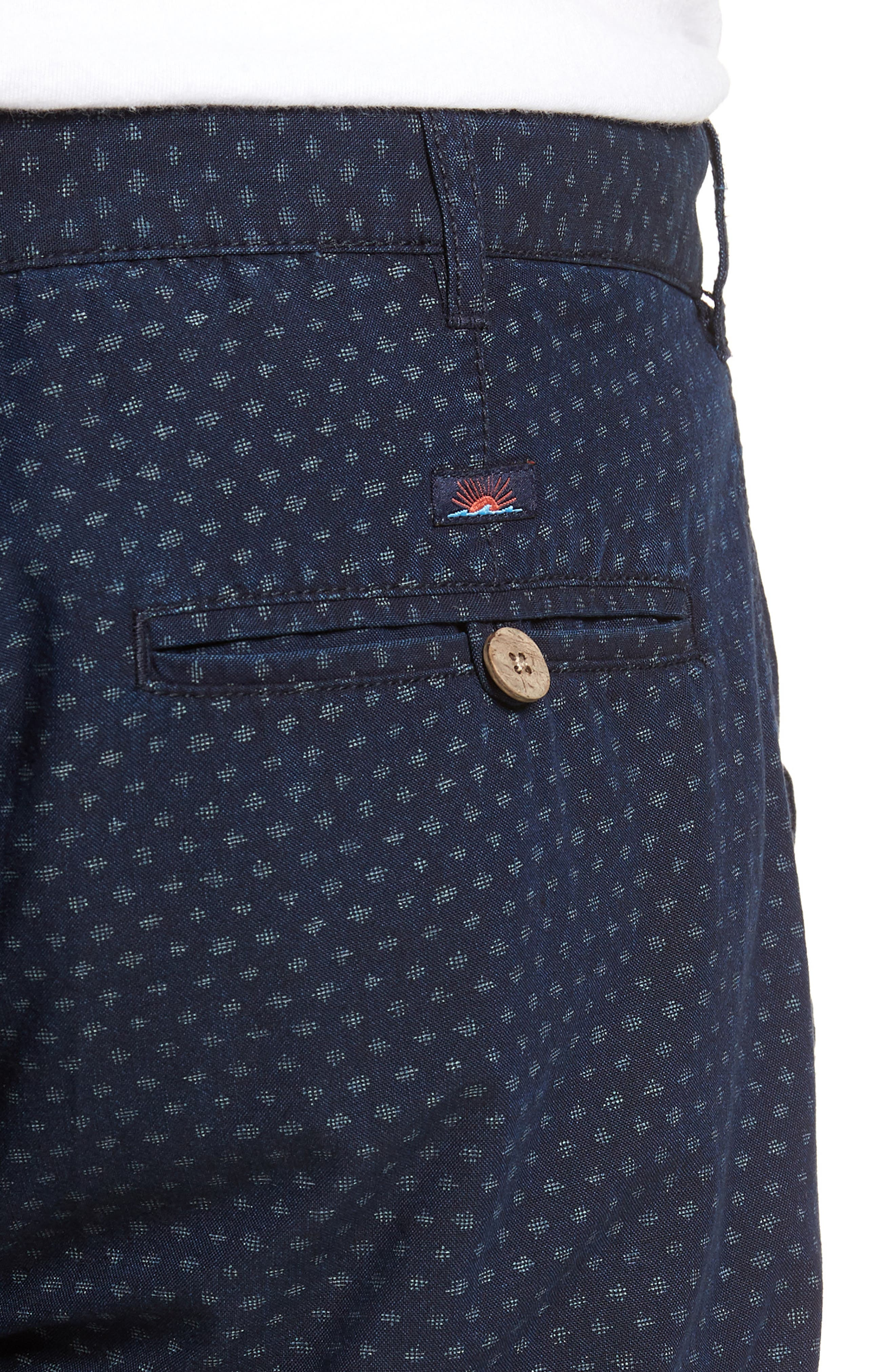 Asbury Shorts,                             Alternate thumbnail 4, color,                             Indigo Fleck