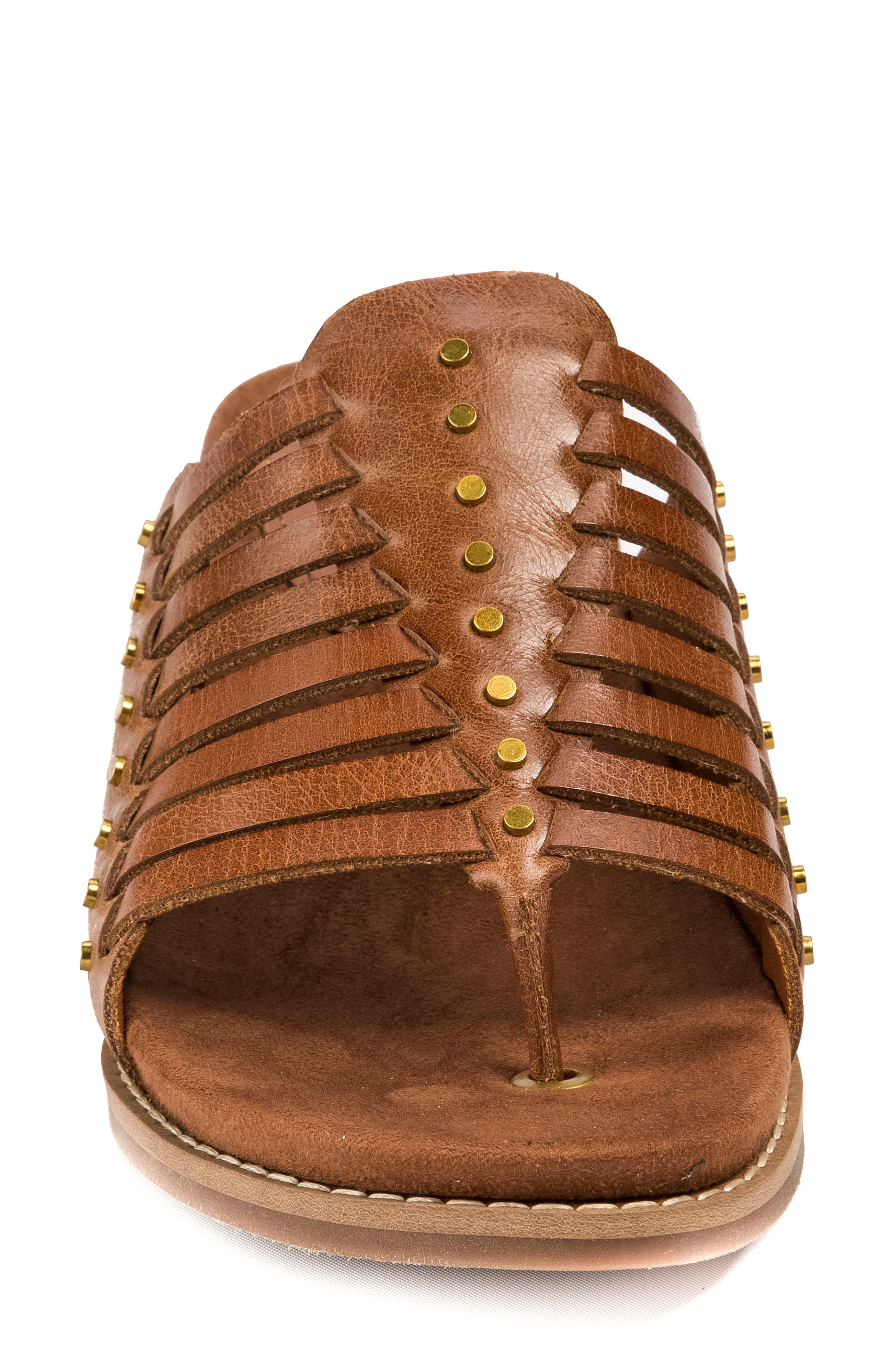 Winnie Wedge Sandal,                             Alternate thumbnail 4, color,                             Brush Brown Leather