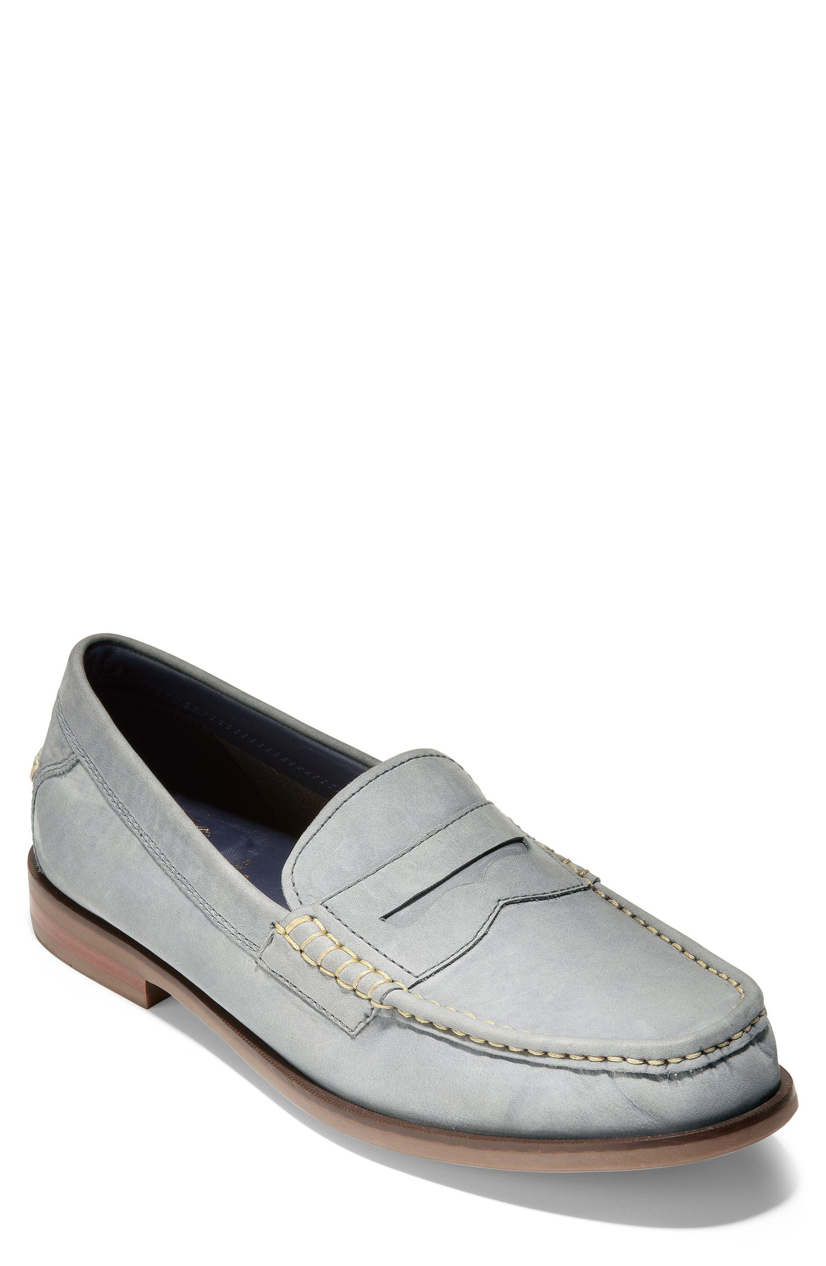 Pinch Friday Penny Loafer,                             Main thumbnail 1, color,                             Excalibur Nubuck