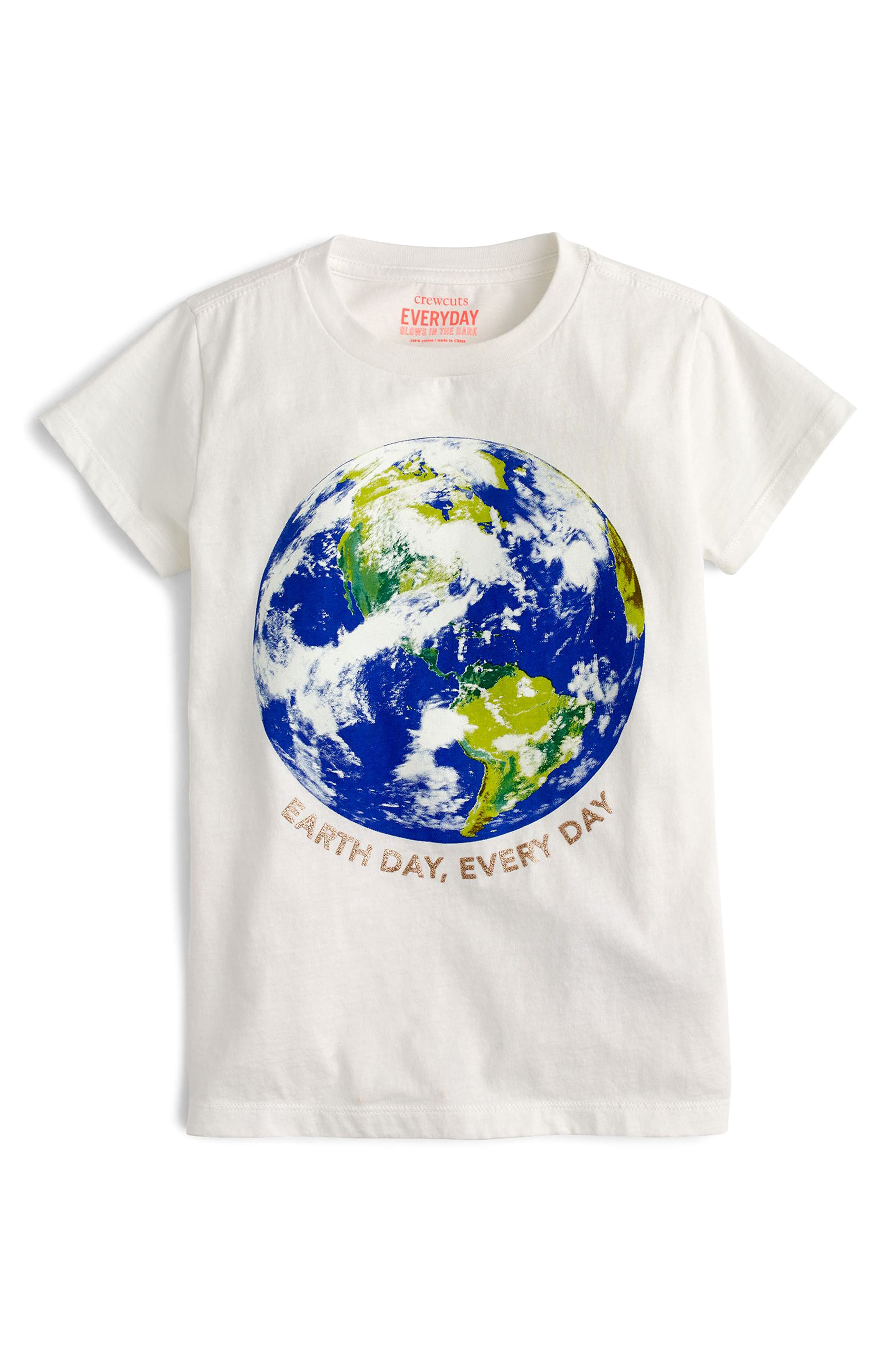 Earth Day Every Day Tee,                             Main thumbnail 1, color,                             White