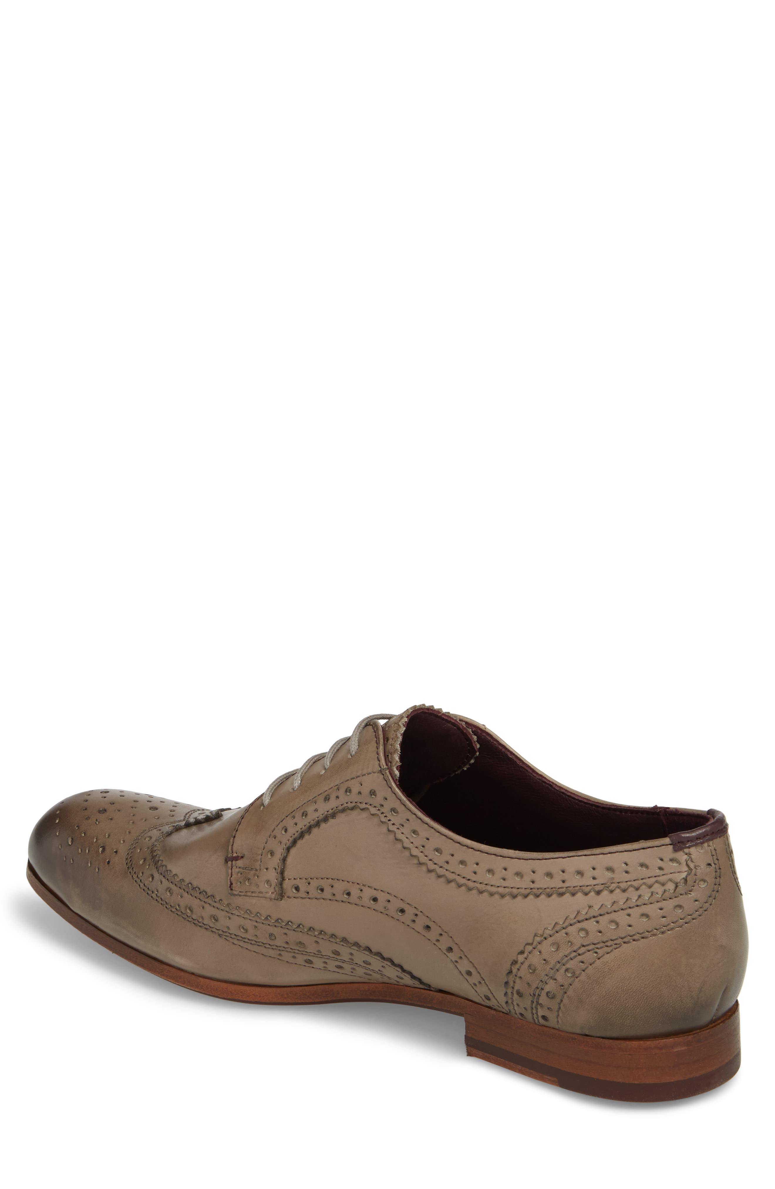 Granet Wingtip,                             Alternate thumbnail 2, color,                             Grey Leather