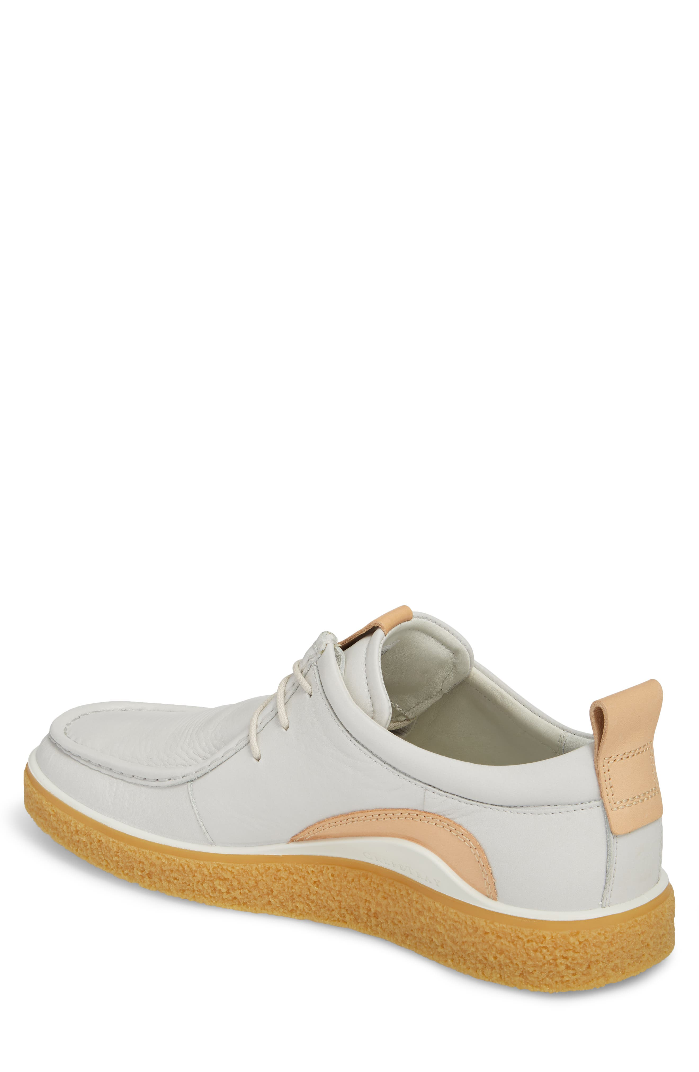 Crepetray Moc Toe Low Chukka Boot,                             Alternate thumbnail 2, color,                             Off White Leather