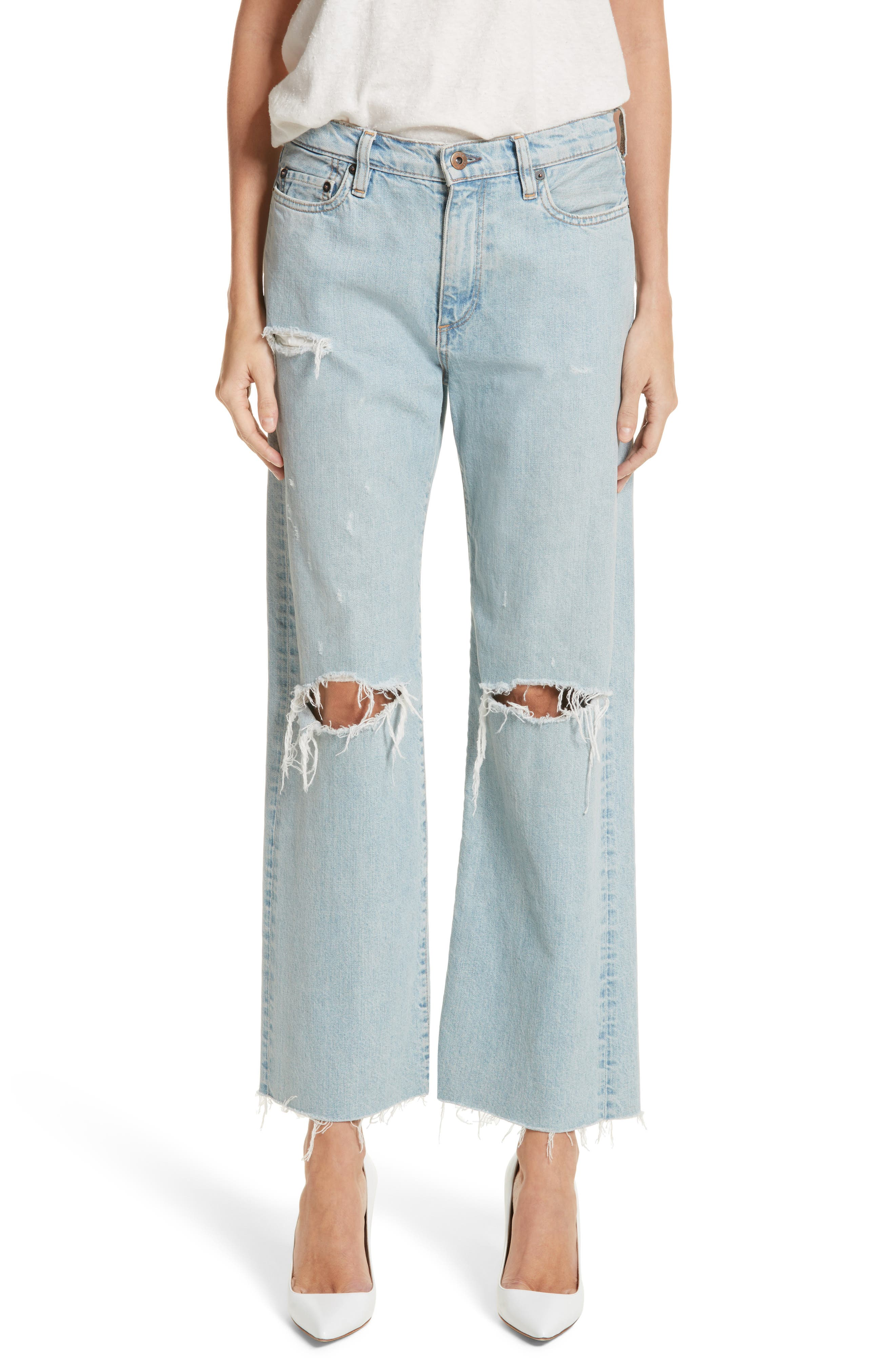 Simon Miller Tibbee Ripped Jeans (Light Indigo)