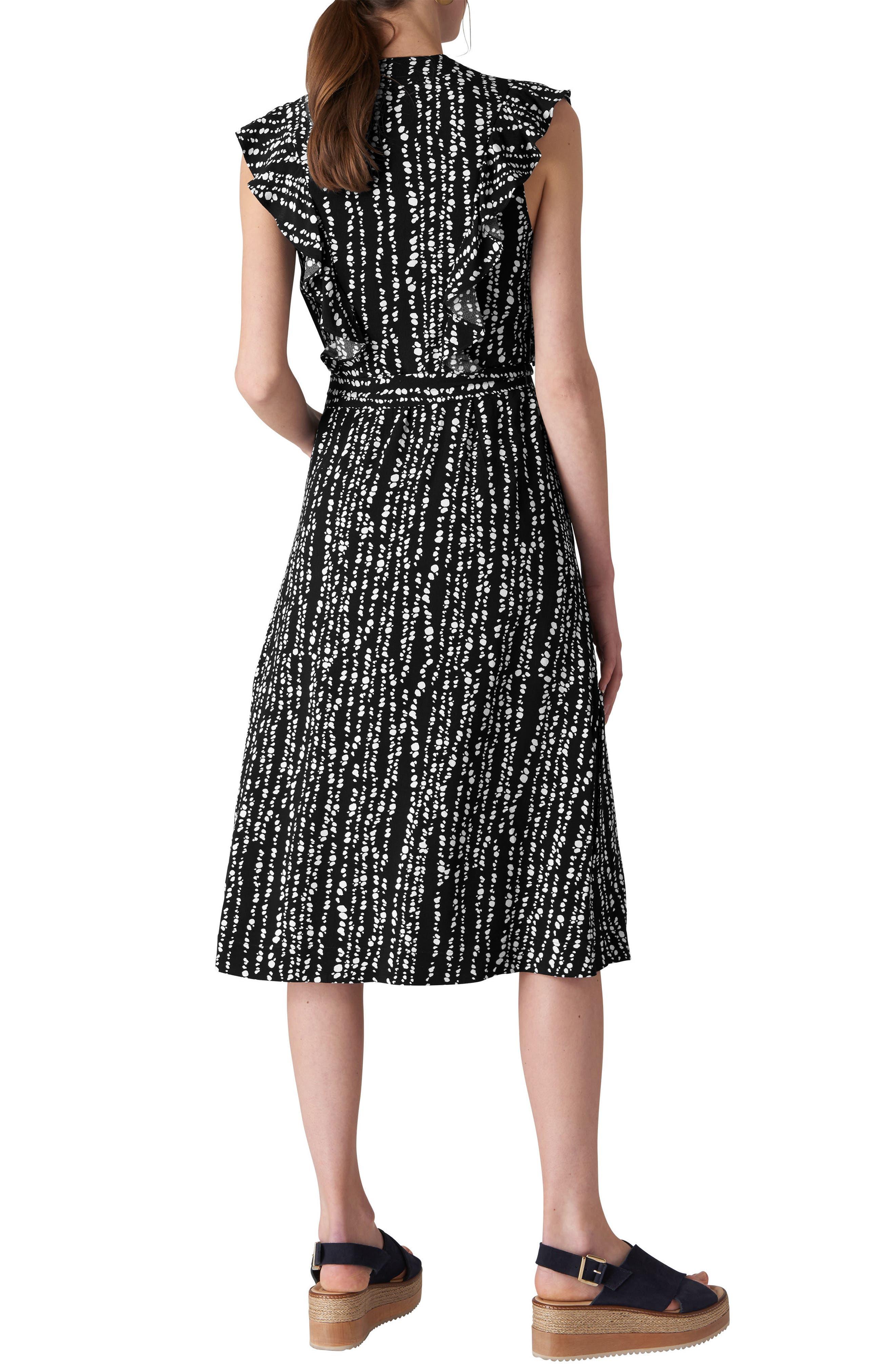 Misha Savannah Print Wrap Dress,                             Alternate thumbnail 2, color,                             Navy/ Multi