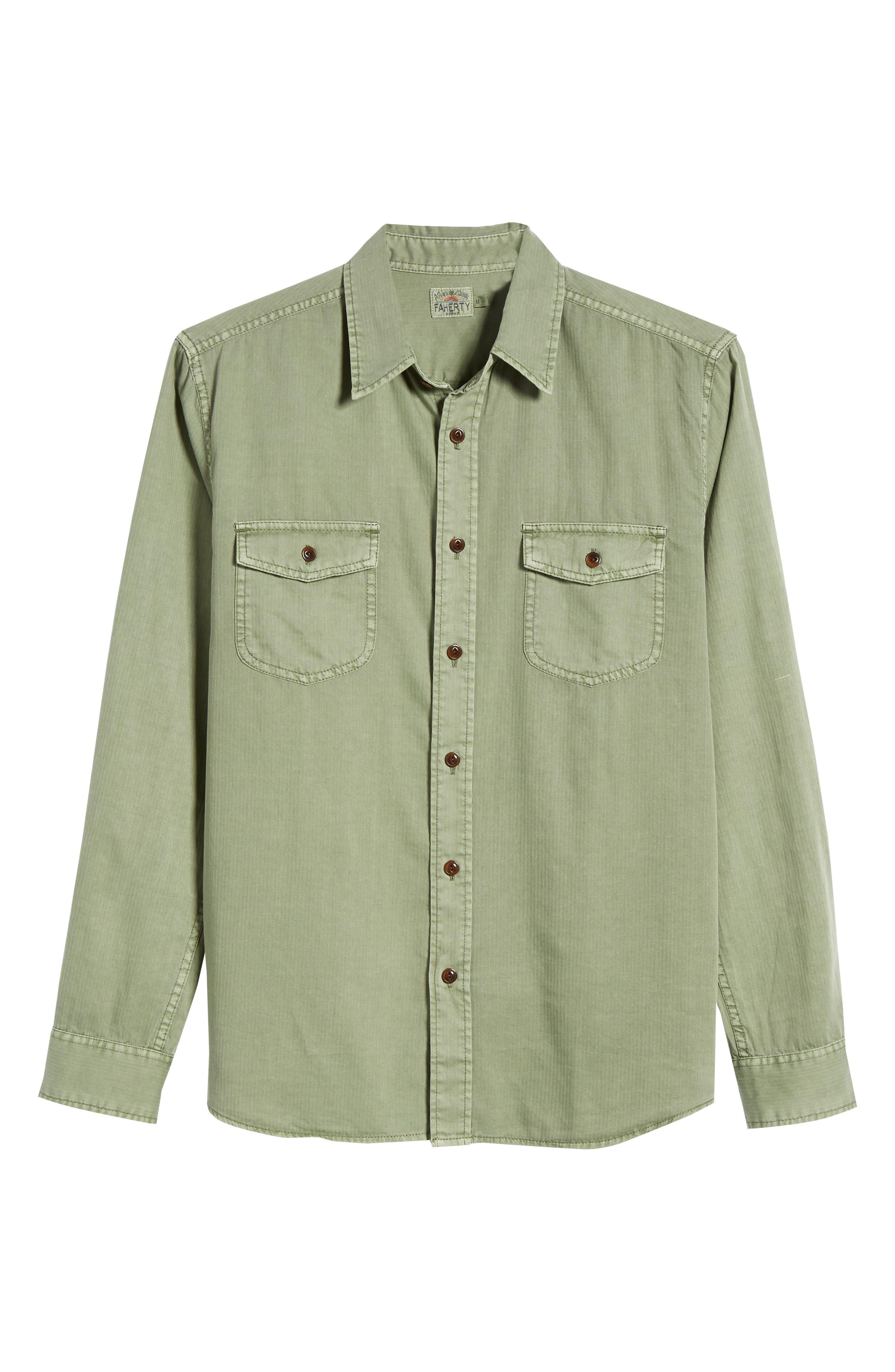 Radar Sport Shirt,                             Alternate thumbnail 6, color,                             Olive