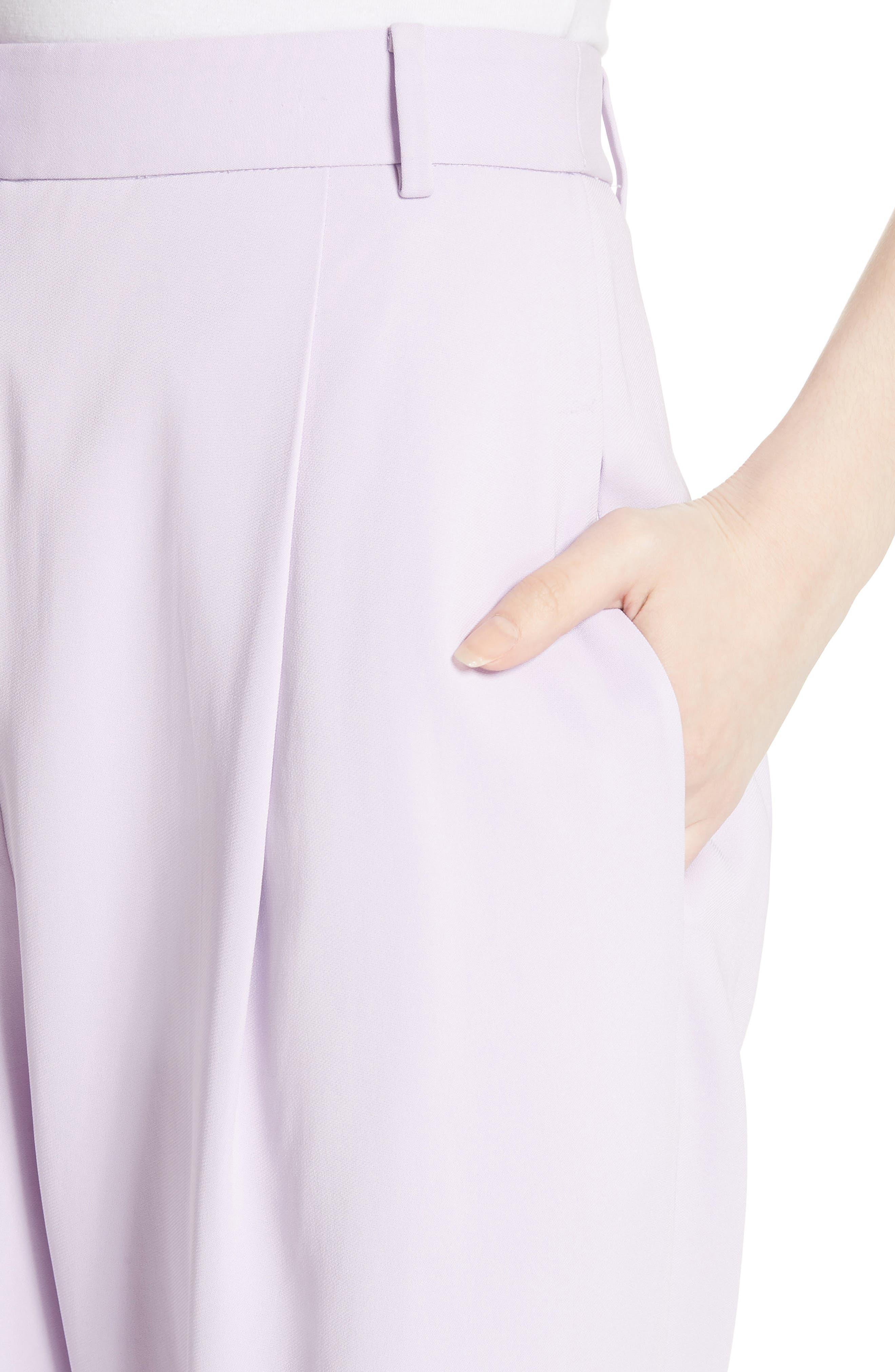 Sculpted Pleat Front Suit Pants,                             Alternate thumbnail 4, color,                             Lavender