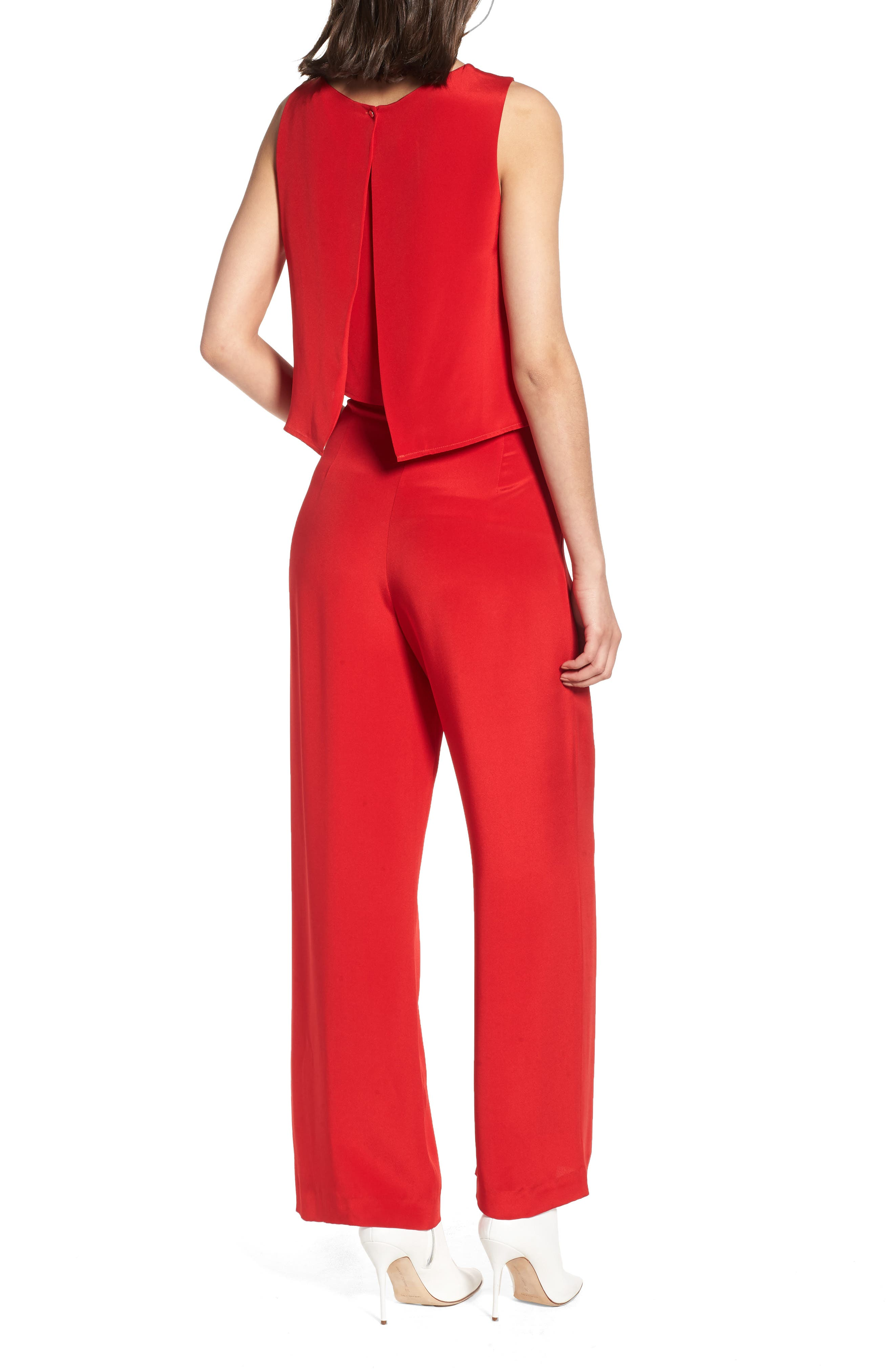 Urban Silky Top & Pants,                             Alternate thumbnail 2, color,                             Red