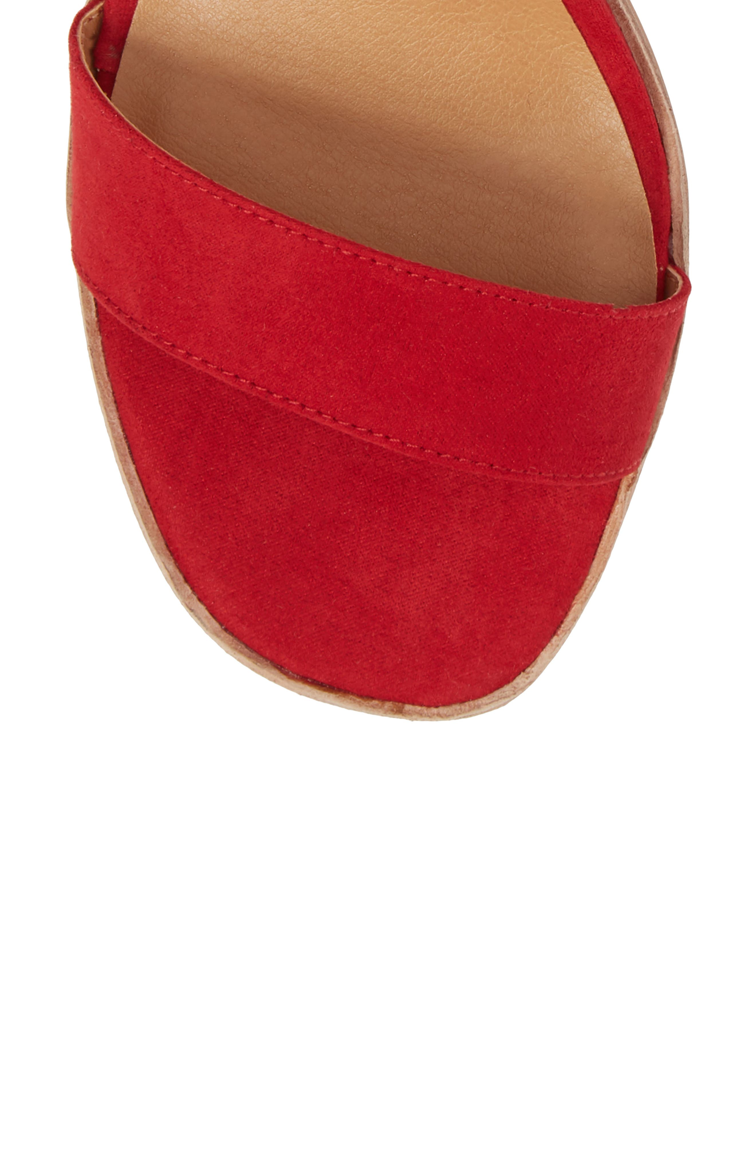 Stassi Block Heel Sandal,                             Alternate thumbnail 5, color,                             Red