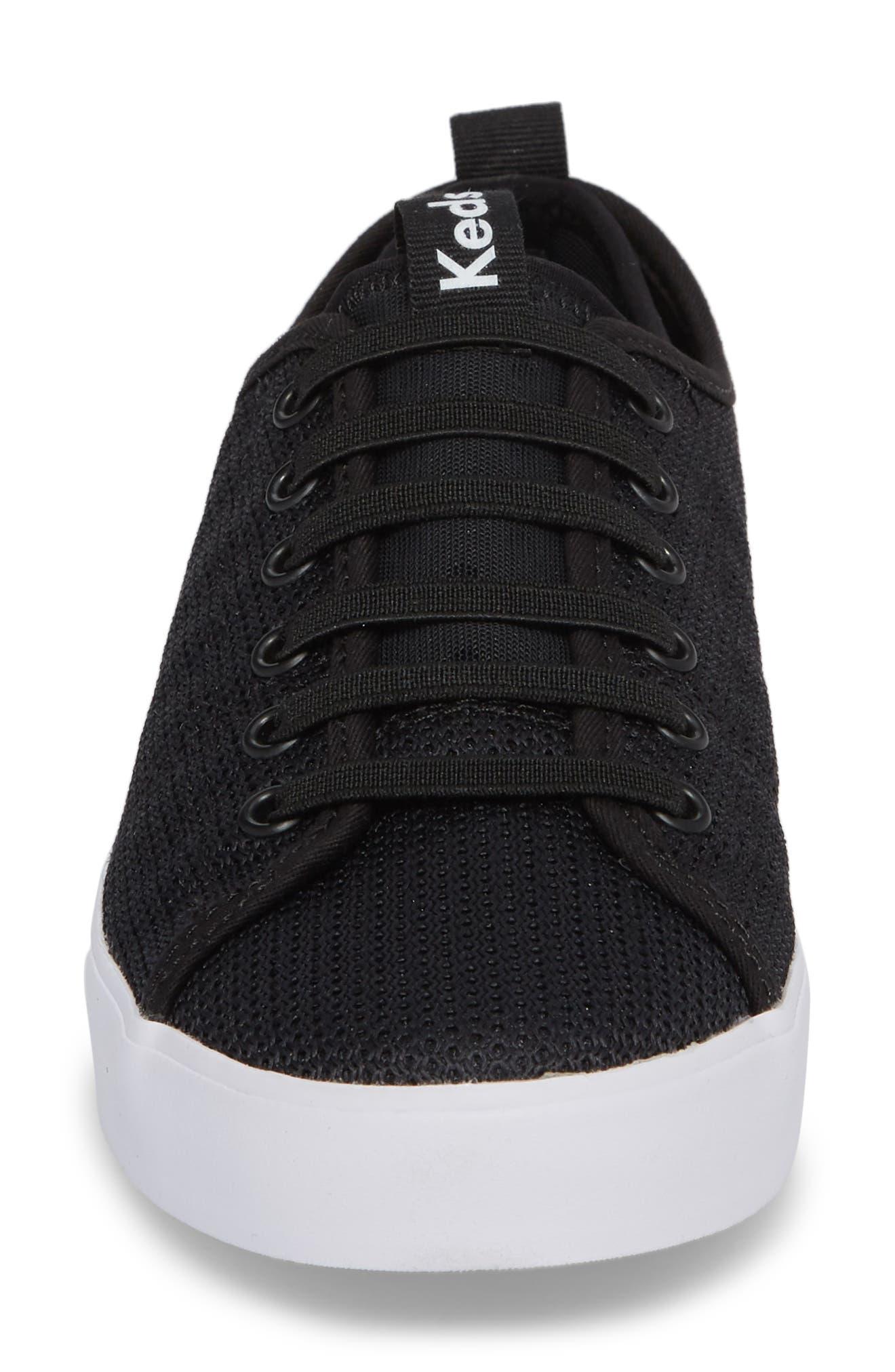 Driftkick Heathered Mesh Sneaker,                             Alternate thumbnail 4, color,                             Black