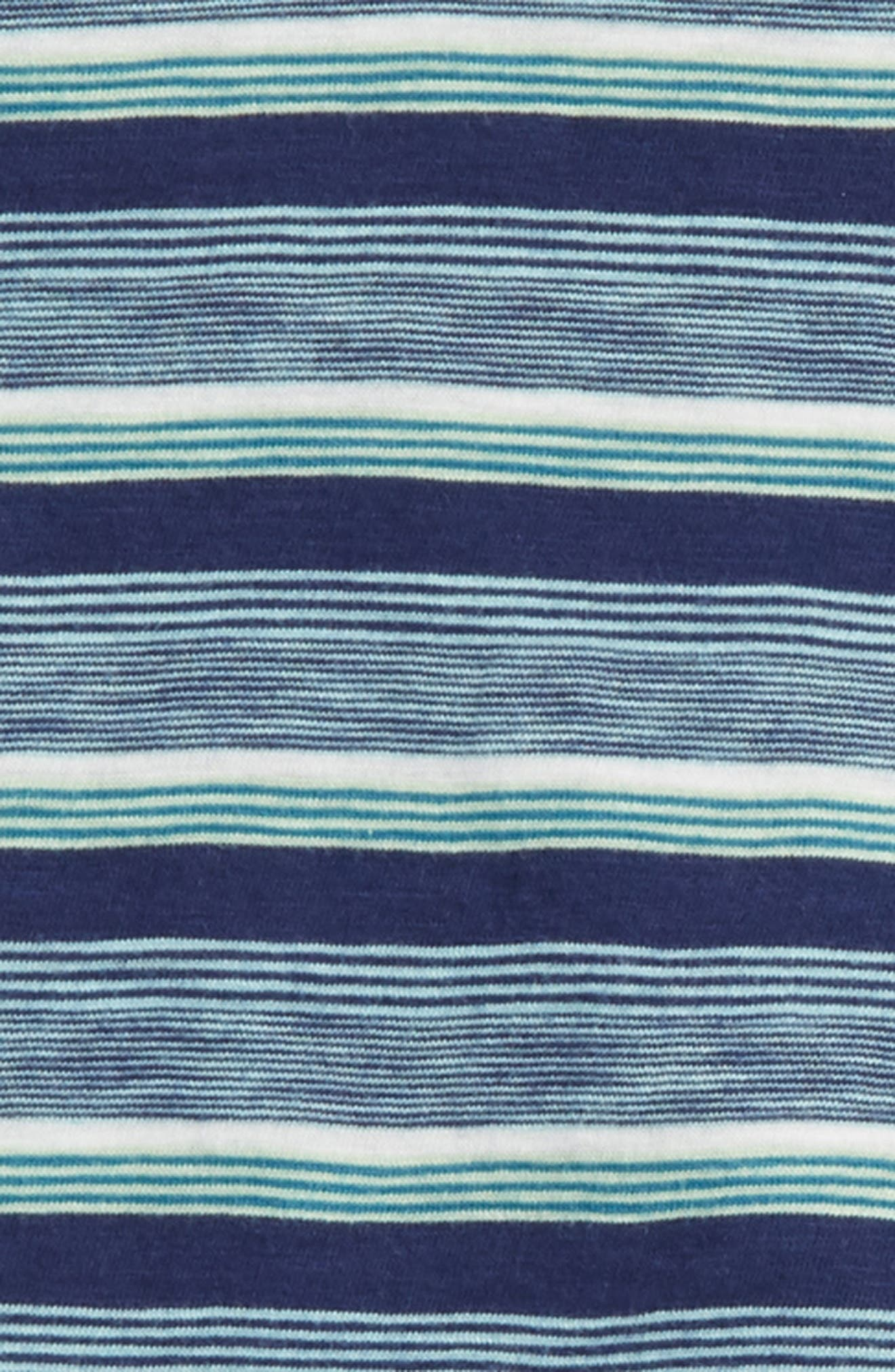 V-Neck T-Shirt & Shorts Set,                             Alternate thumbnail 2, color,                             Indigo Sky