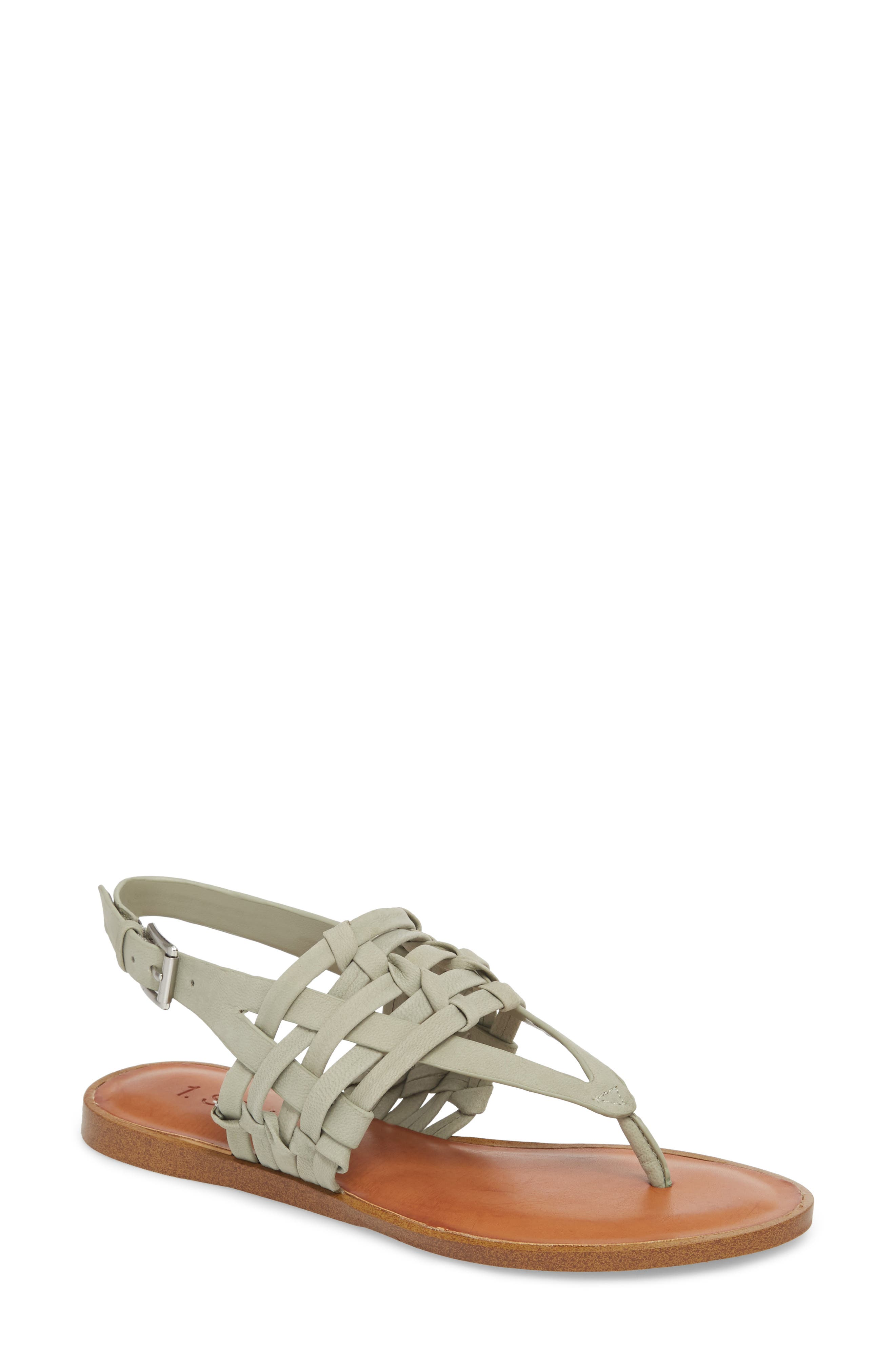 Lenn Sandal,                             Main thumbnail 1, color,                             Nettle Nubuck Leather