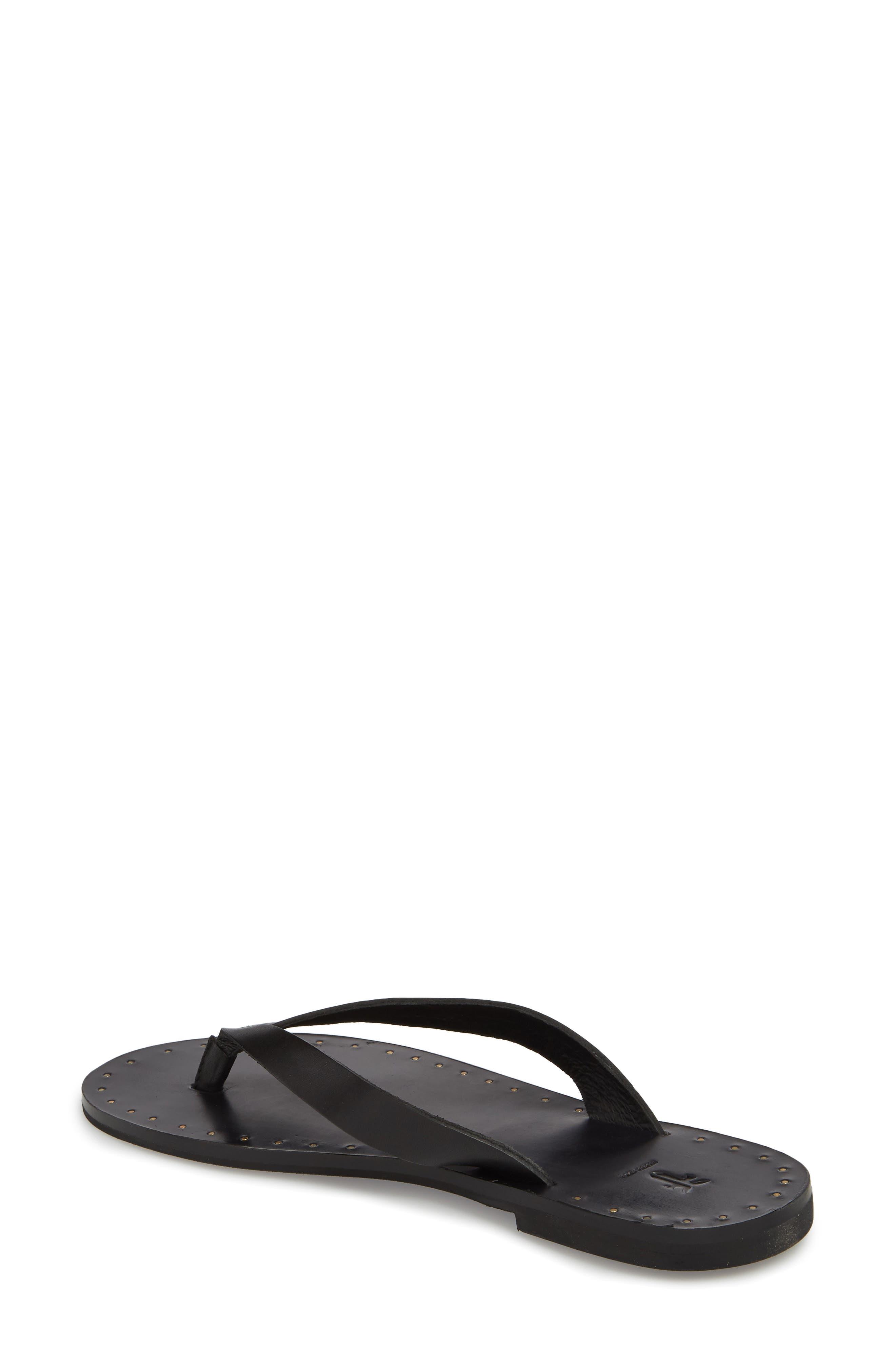 Ally Flip Flop,                             Alternate thumbnail 2, color,                             Black Leather
