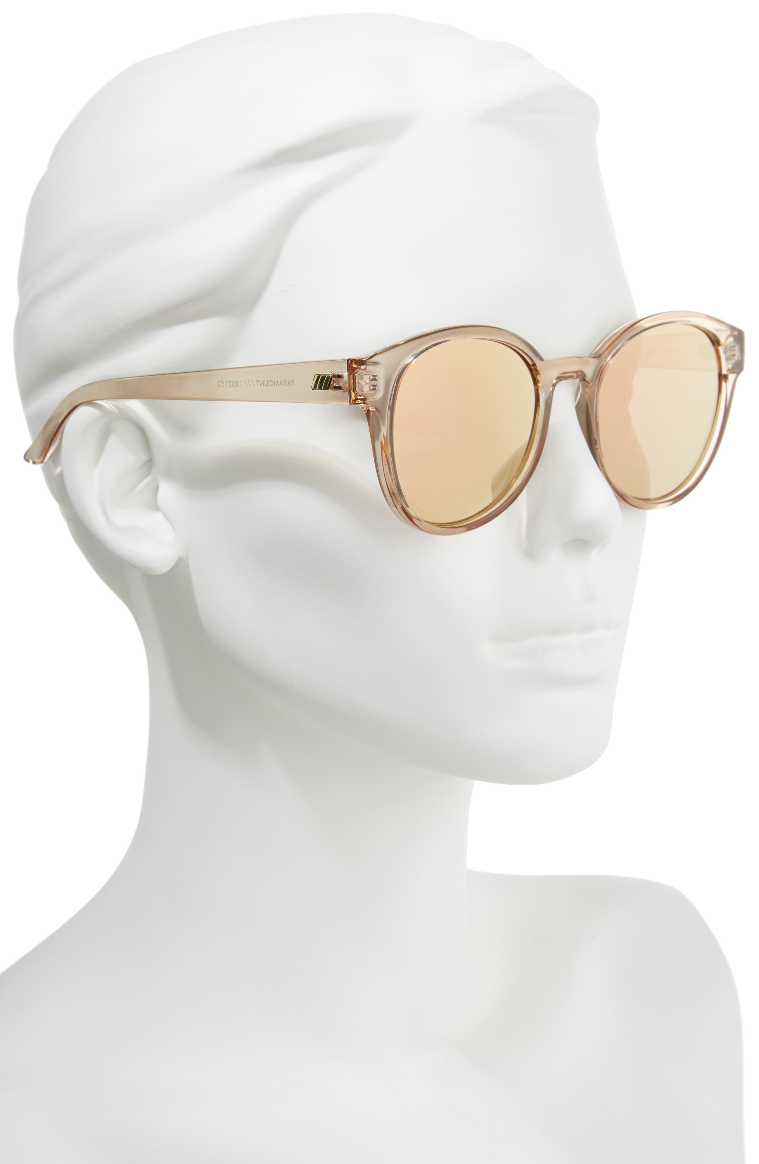 Paramount 52mm Round Sunglasses,                             Alternate thumbnail 2, color,                             Tan
