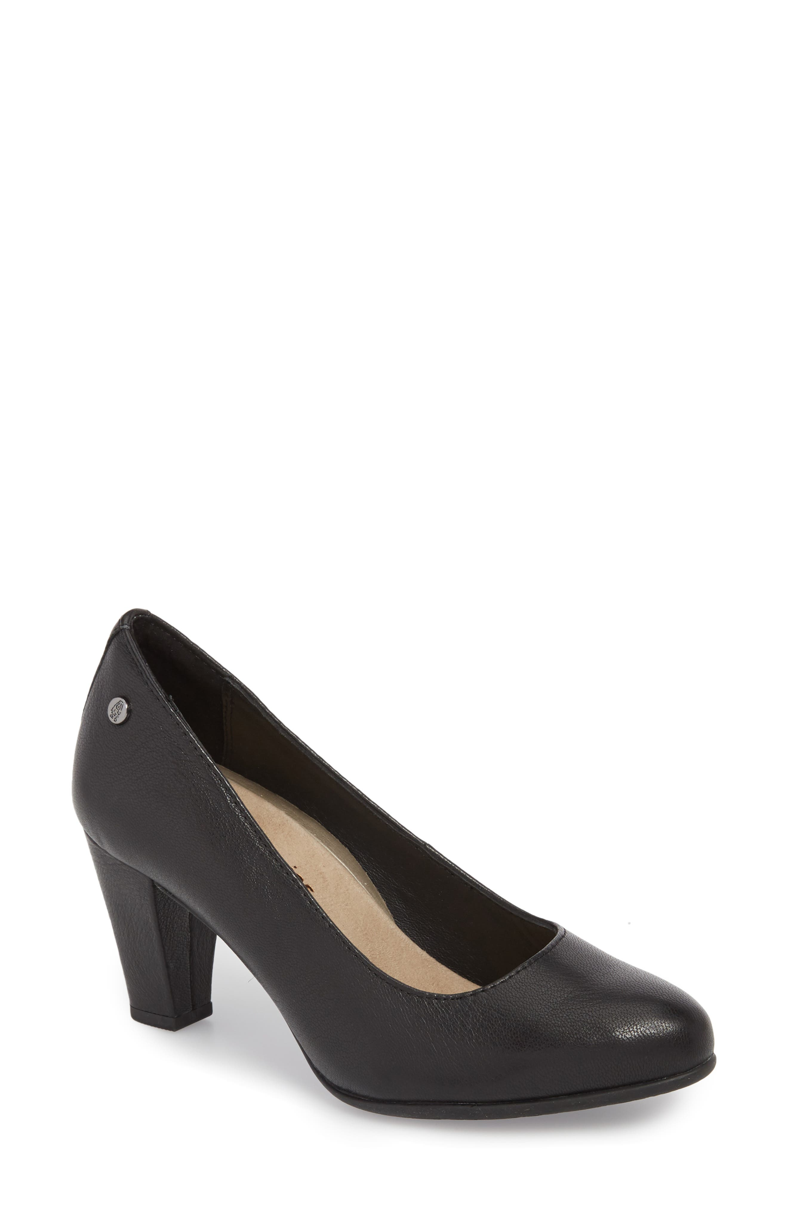 Minam Meaghan Pump,                             Main thumbnail 1, color,                             Black Leather