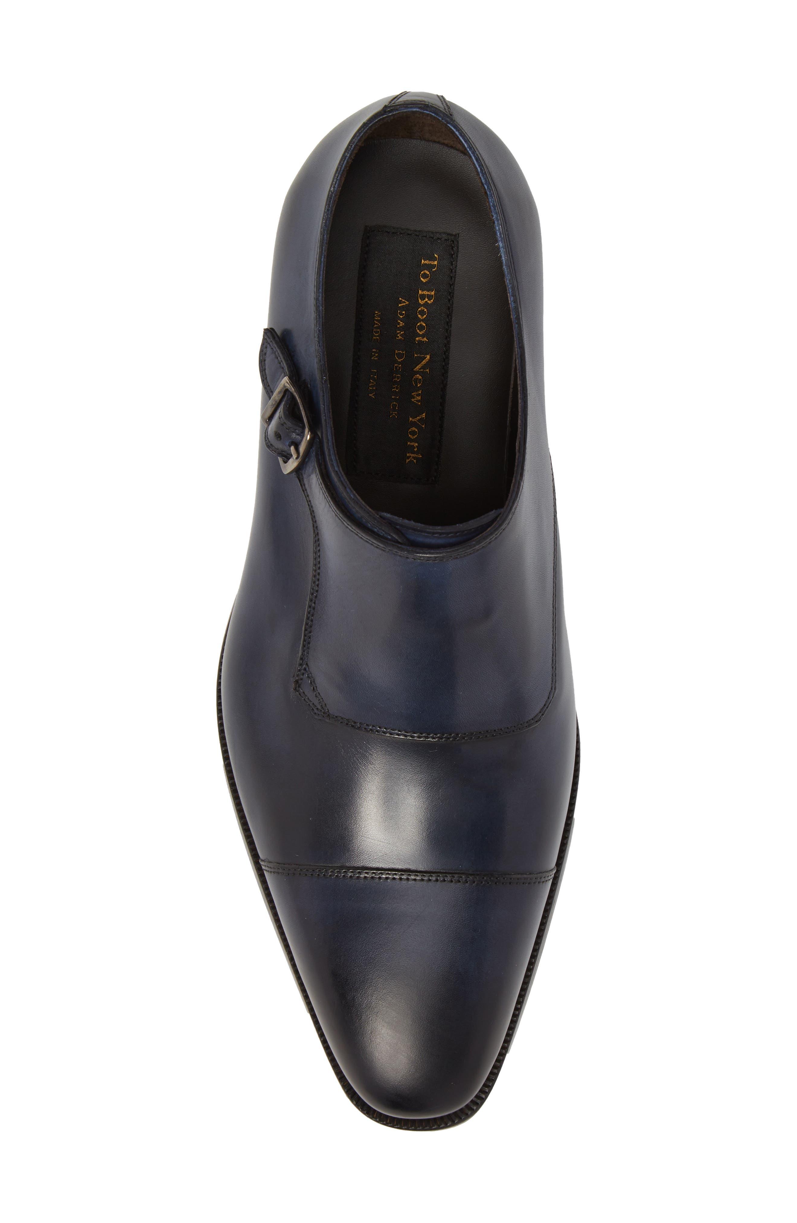 Ludlum Cap Toe Monk Shoe,                             Alternate thumbnail 5, color,                             Blue Leather