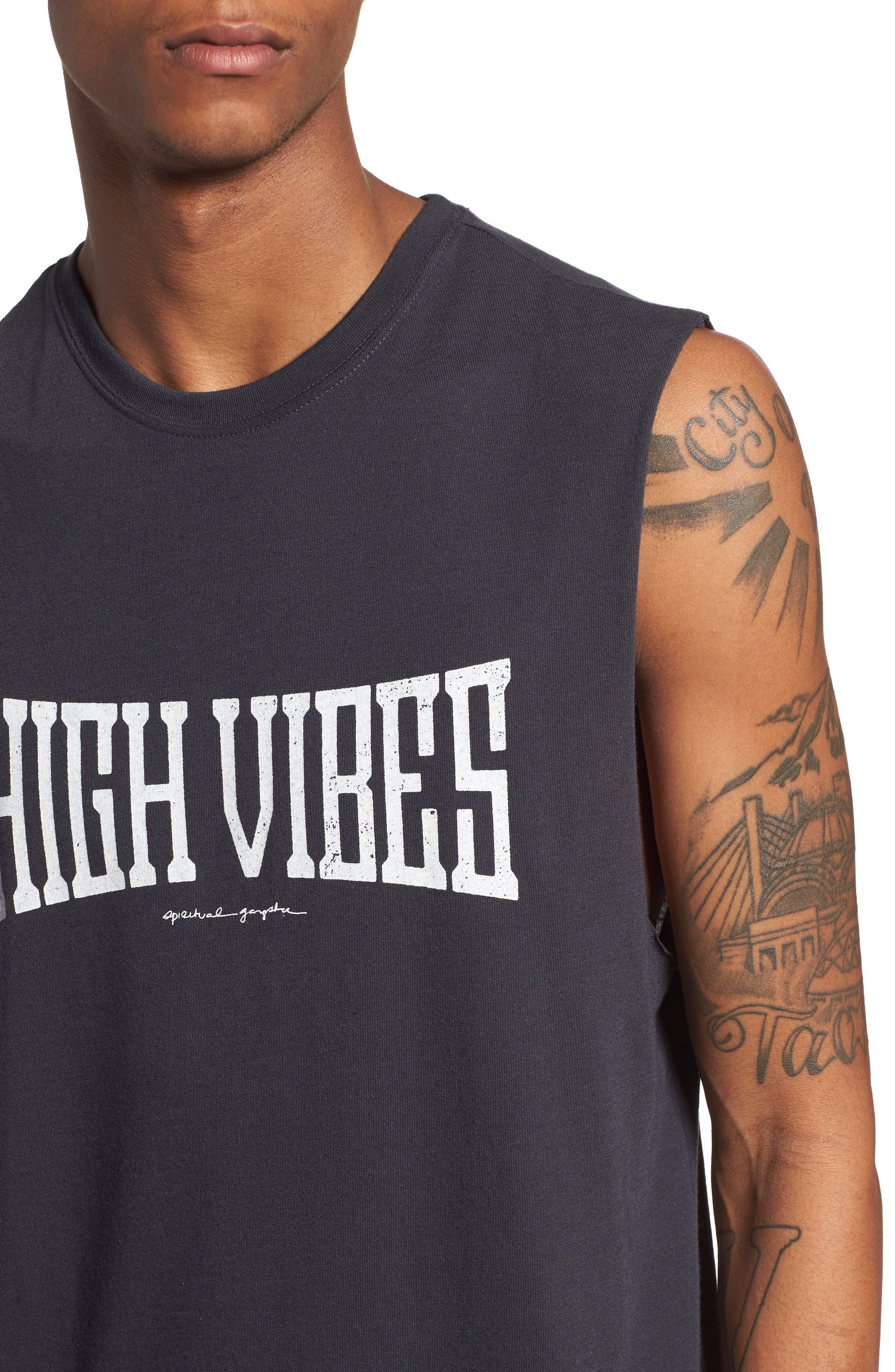 High Vibes Muscle Tank,                             Alternate thumbnail 4, color,                             Vintage Black