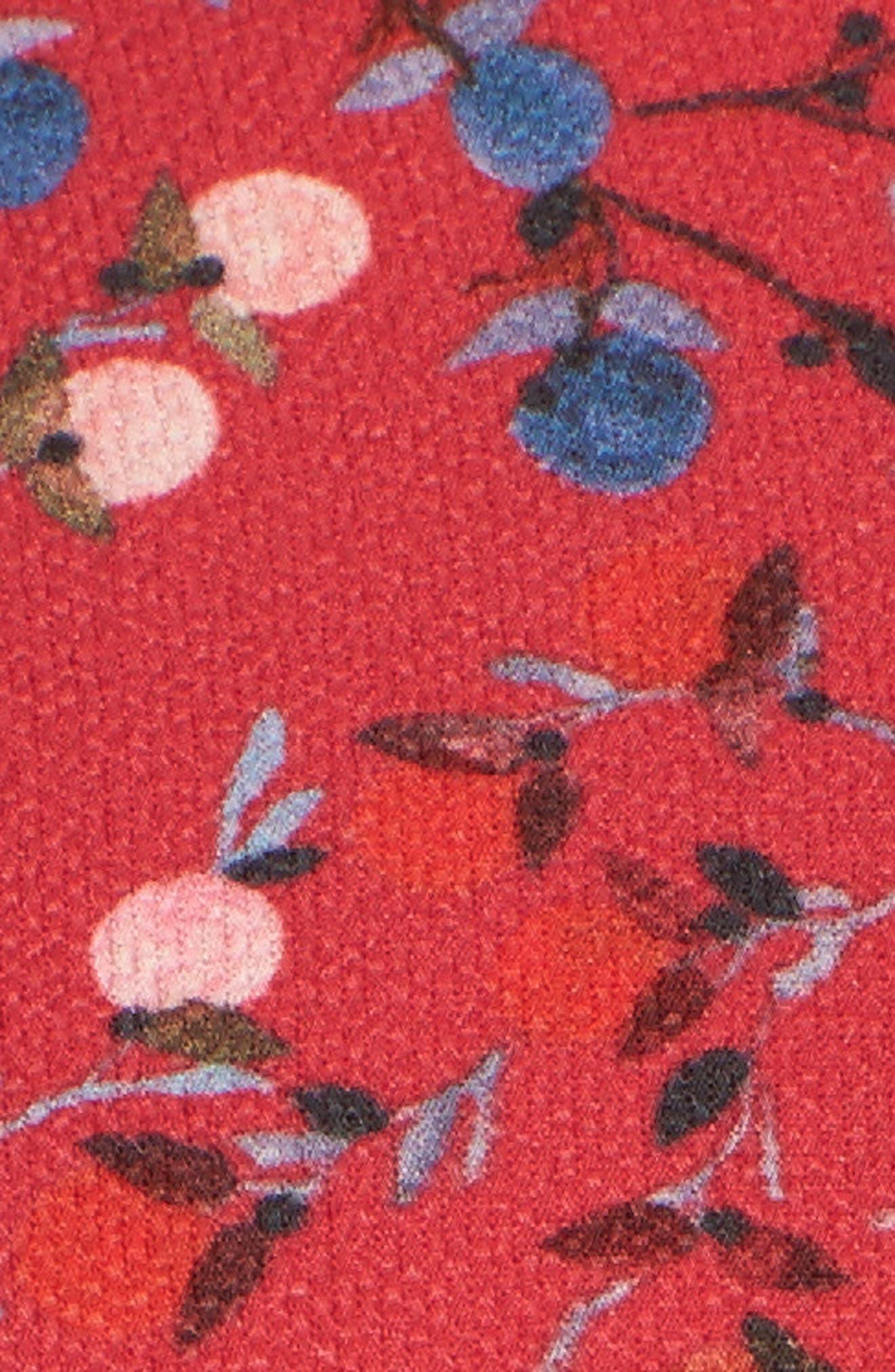 Frances Drape Shirtdress,                             Alternate thumbnail 5, color,                             Watermelon