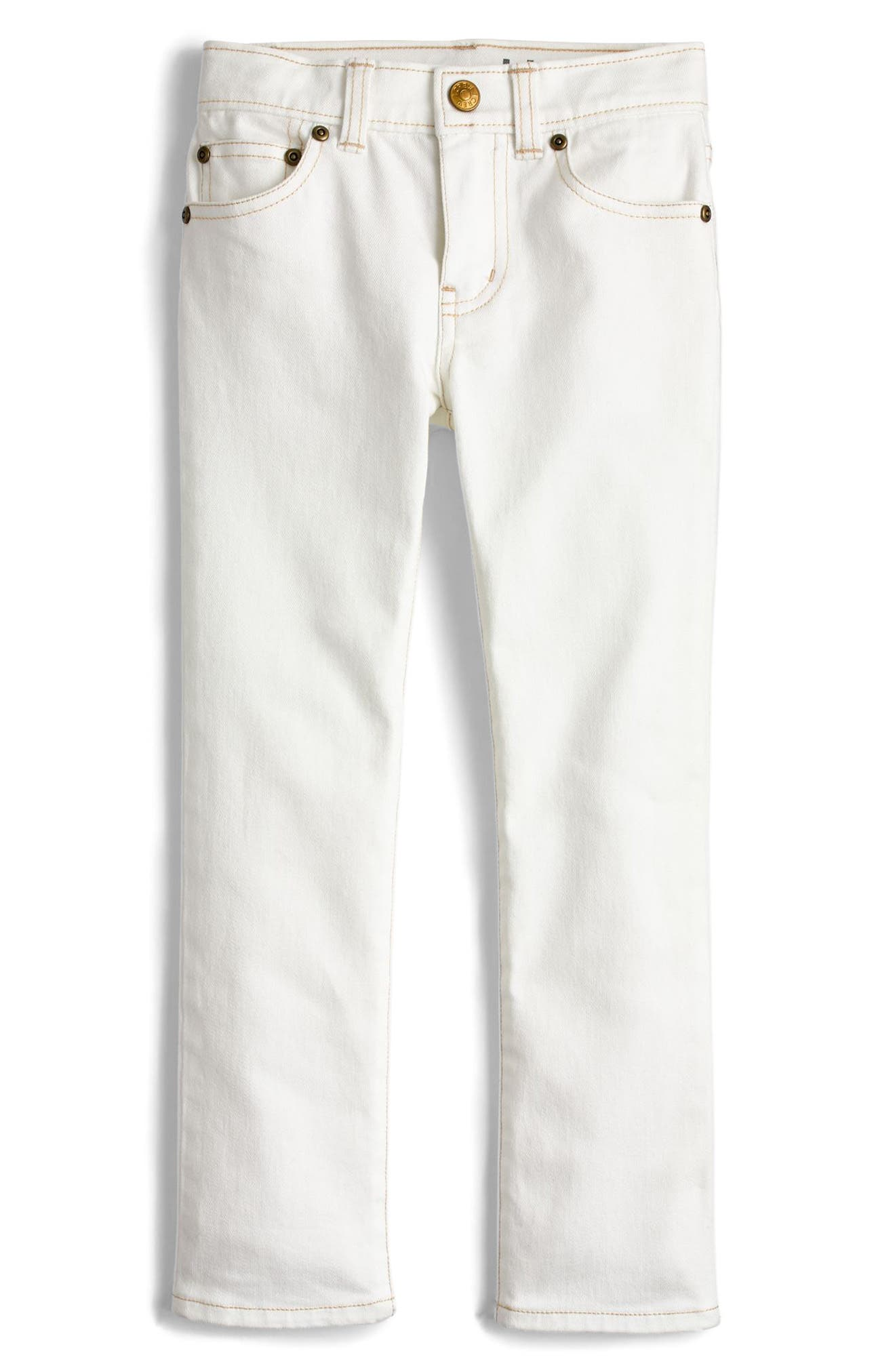 Stretch Skinny Fit Jeans,                             Main thumbnail 1, color,                             Bleach White