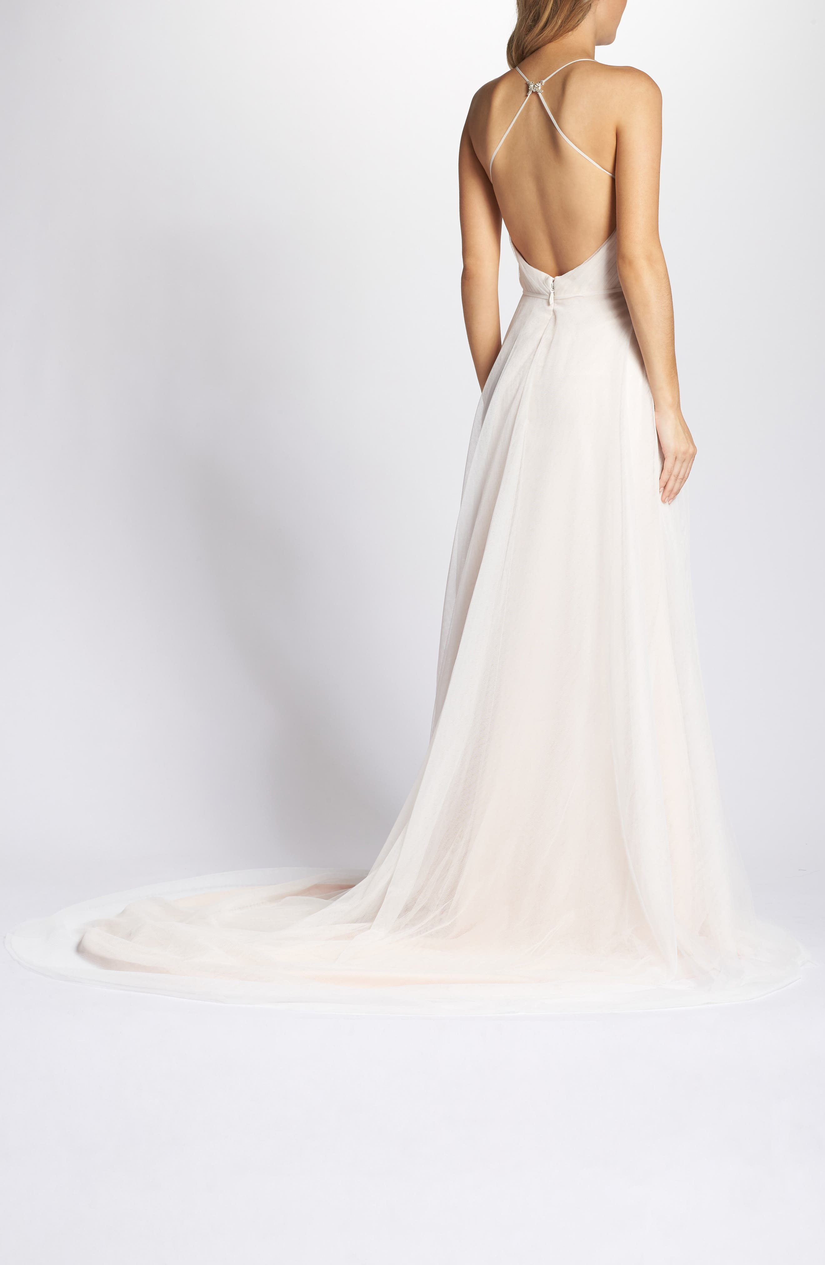 K'Mich Weddings - wedding planning - affordable wedding dresses - Ti Adora by Allison Webb Plunging A-Line Gown - Nordstrom