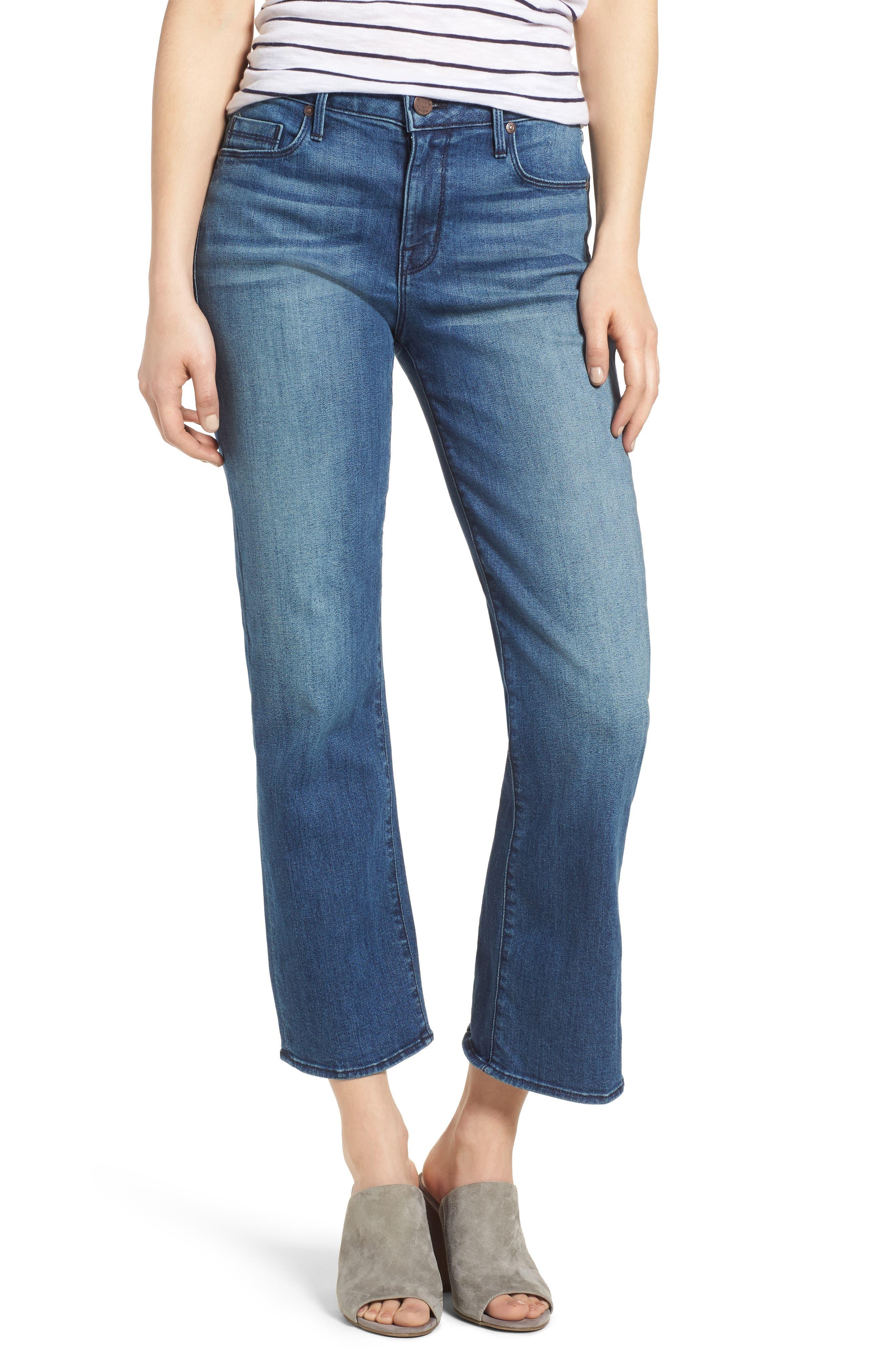 Split Back Crop Jeans,                             Main thumbnail 1, color,                             Ventura