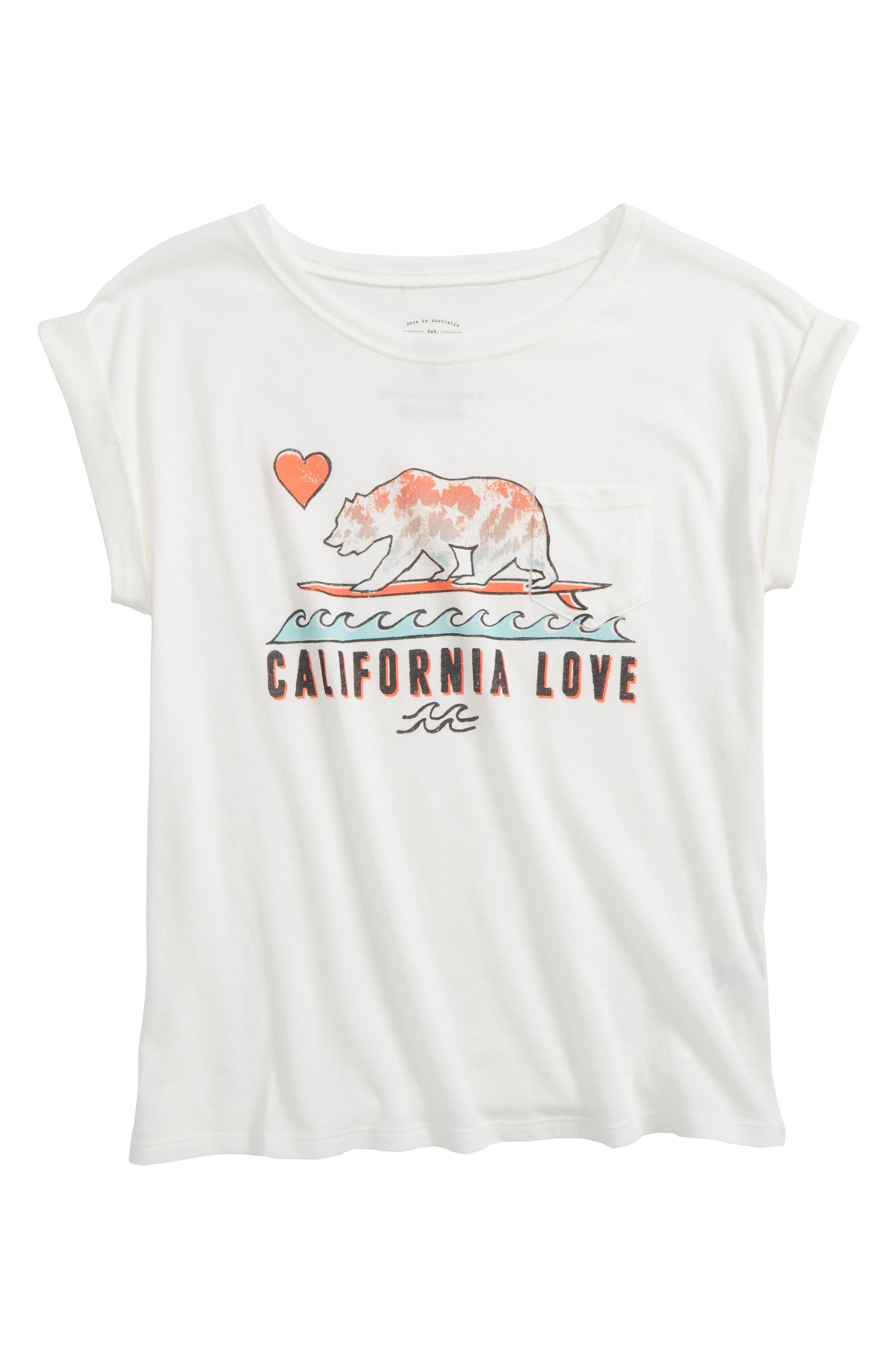 Alternate Image 1 Selected - Billabong Cali Love Waves Graphic Tee (Little Girls & Big Girls)
