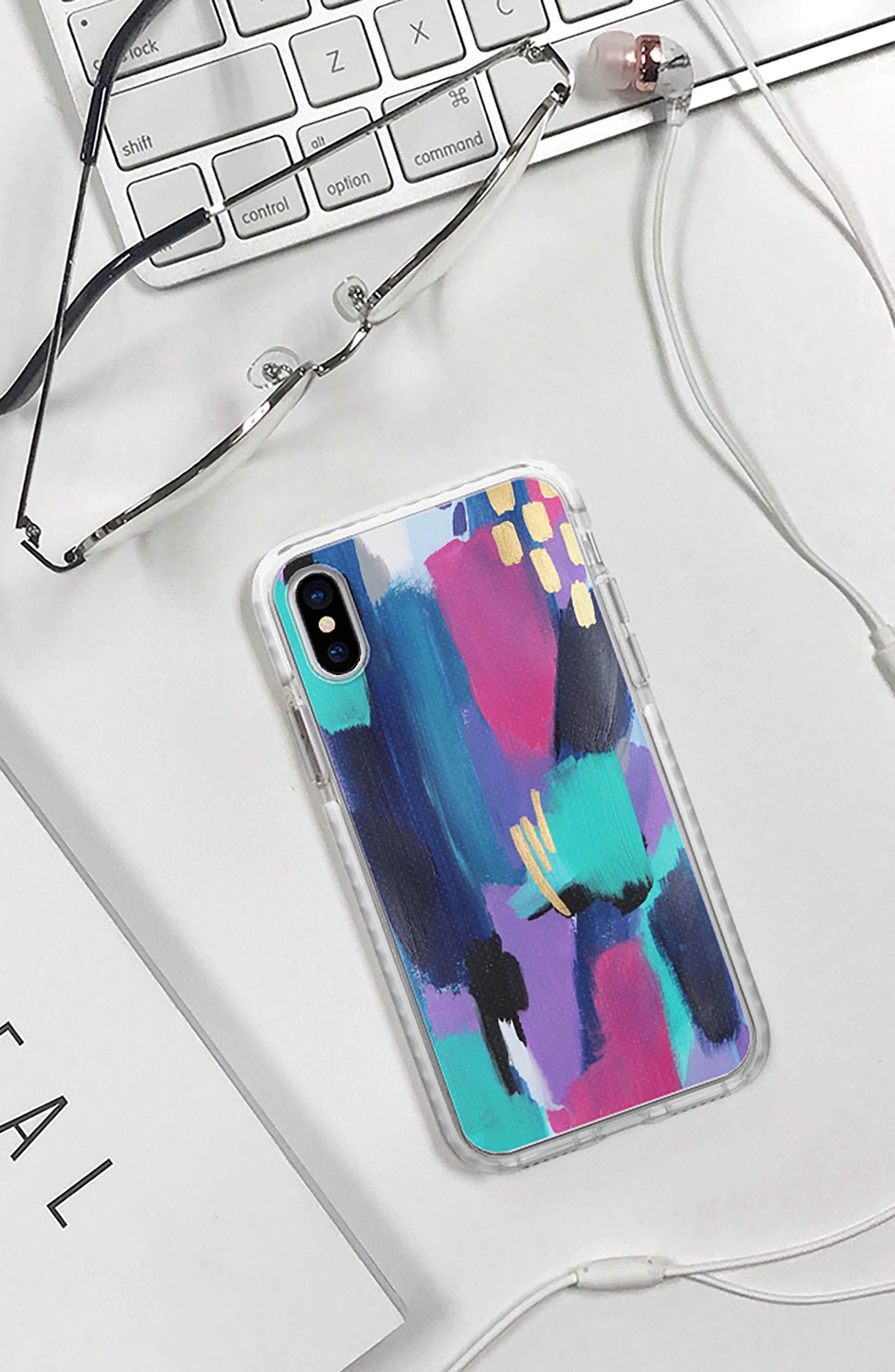 Glitz Glam iPhone X Case,                             Alternate thumbnail 5, color,