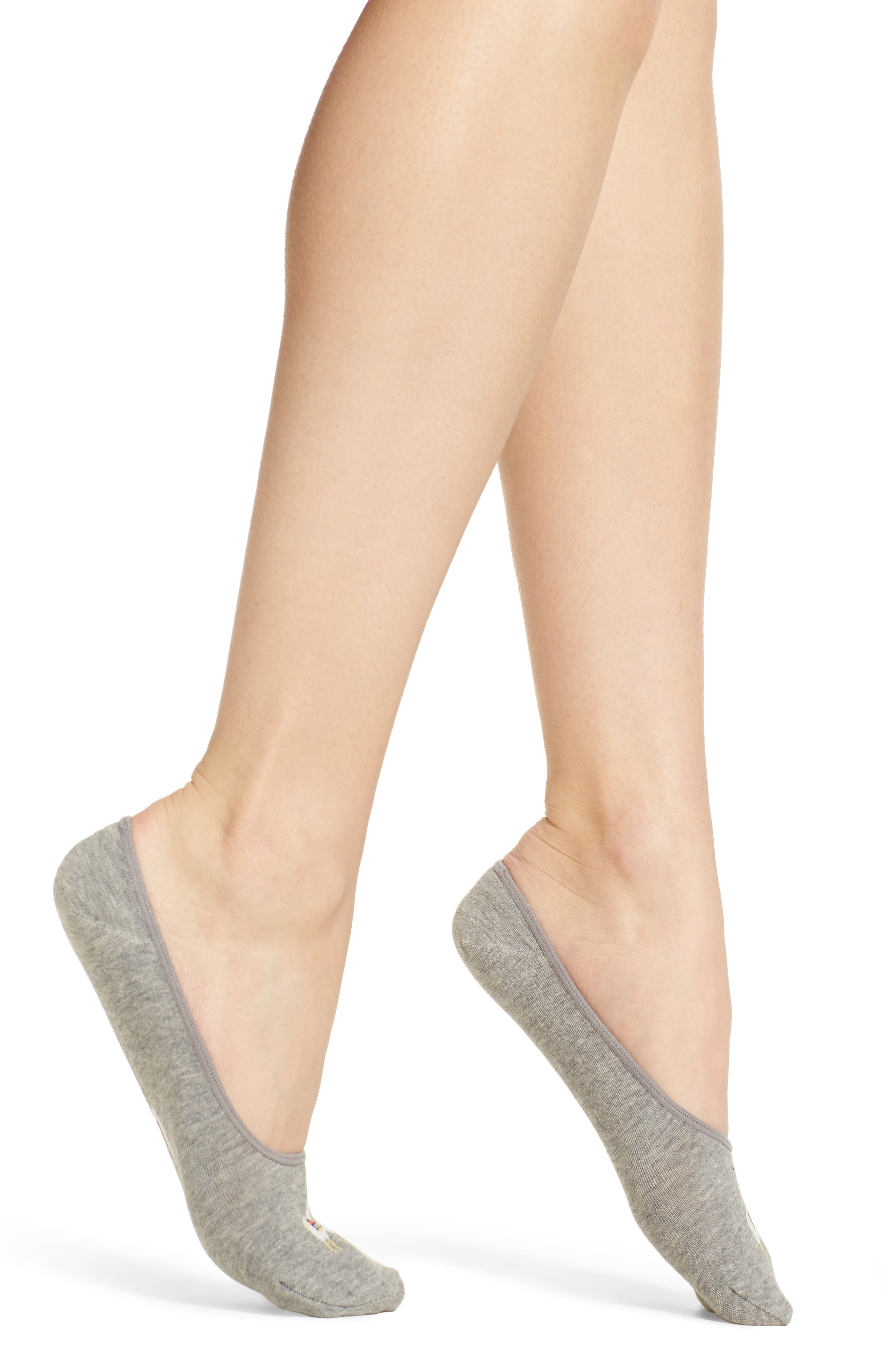 Main Image - Hot Sox Llama Drama No-Show Socks (3 for $18)