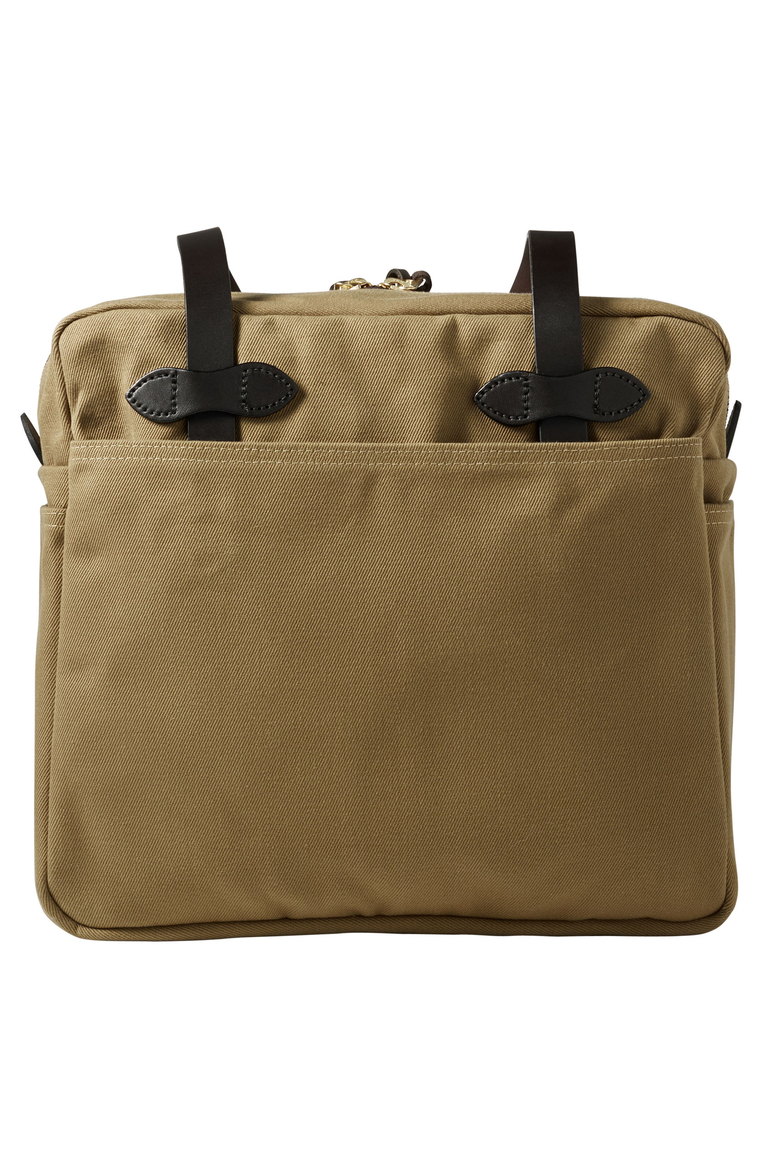 Rugged Twill Zip Tote Bag,                             Alternate thumbnail 2, color,                             Tan