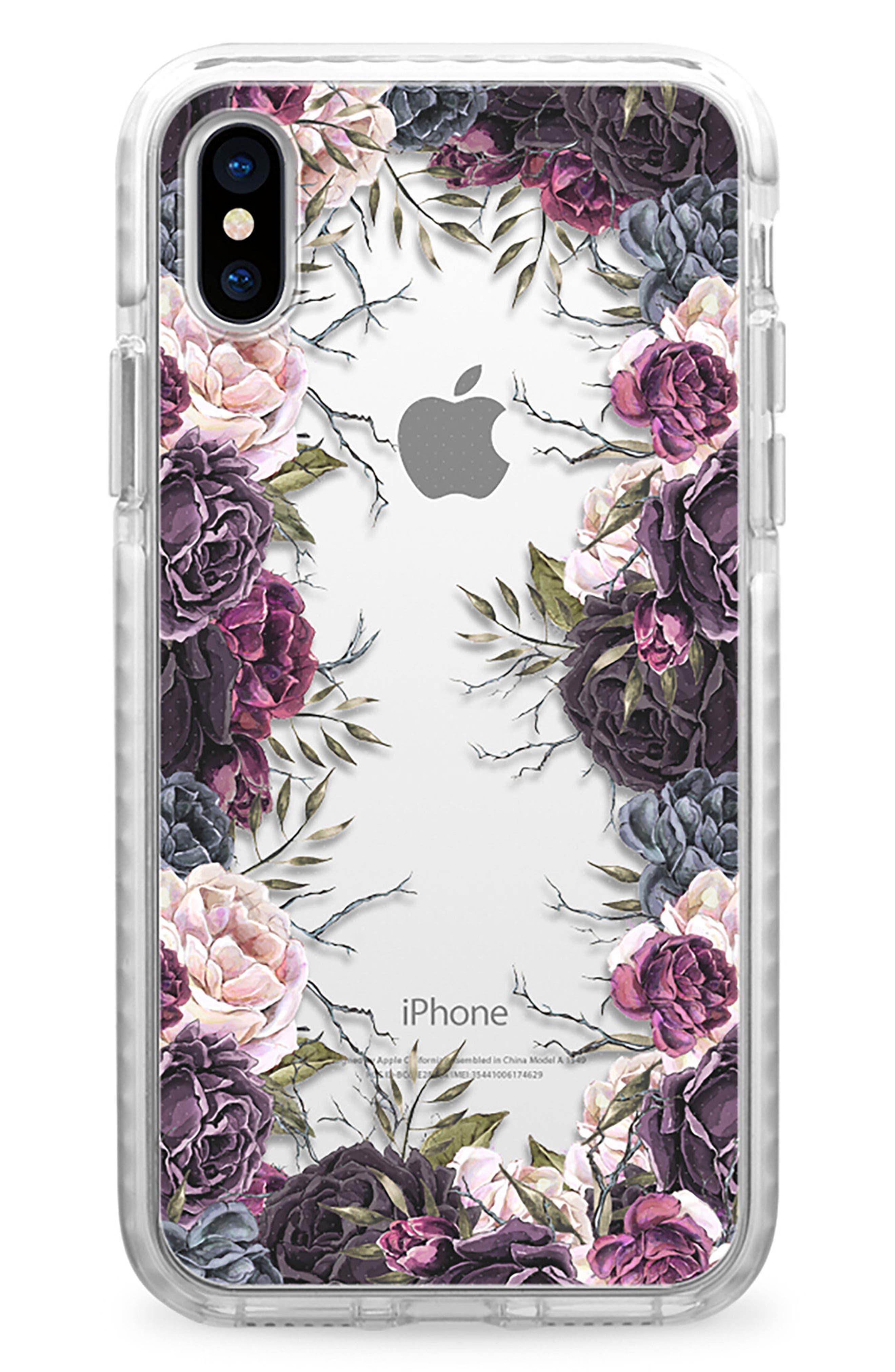 Casetify My Secret Garden Transparent iPhone X Case