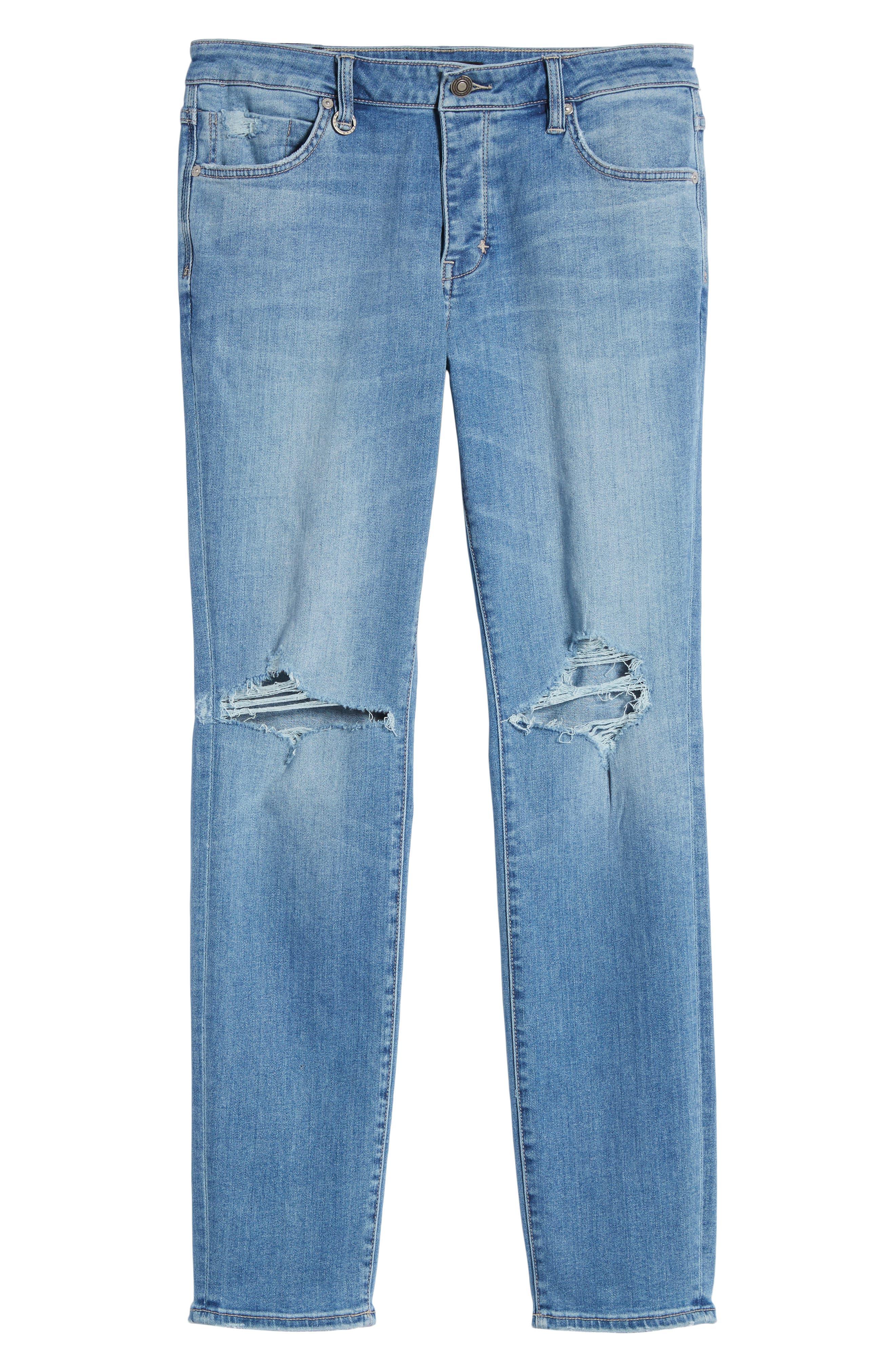 Iggy Skinny Fit Jeans,                             Alternate thumbnail 6, color,                             Broken Lights